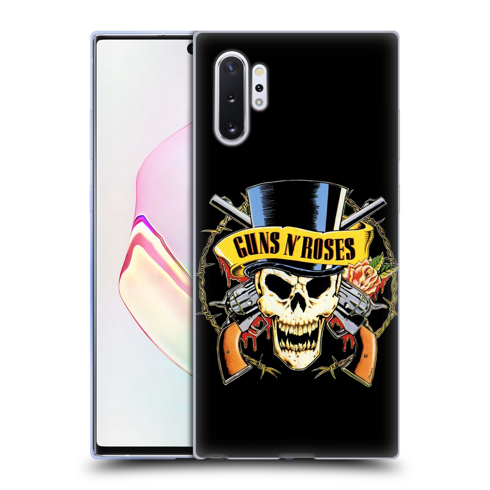 Silikonové pouzdro na mobil Samsung Galaxy Note 10 Plus - Head Case - Guns N' Roses - Lebka