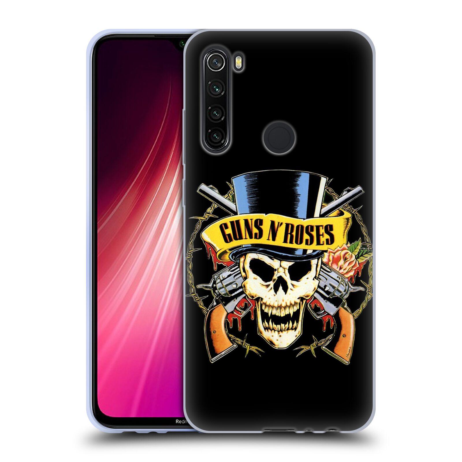 Silikonové pouzdro na mobil Xiaomi Redmi Note 8T - Head Case - Guns N' Roses - Lebka