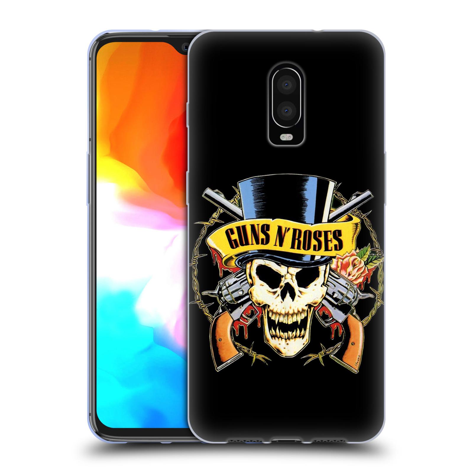 Silikonové pouzdro na mobil OnePlus 6T - Head Case - Guns N' Roses - Lebka