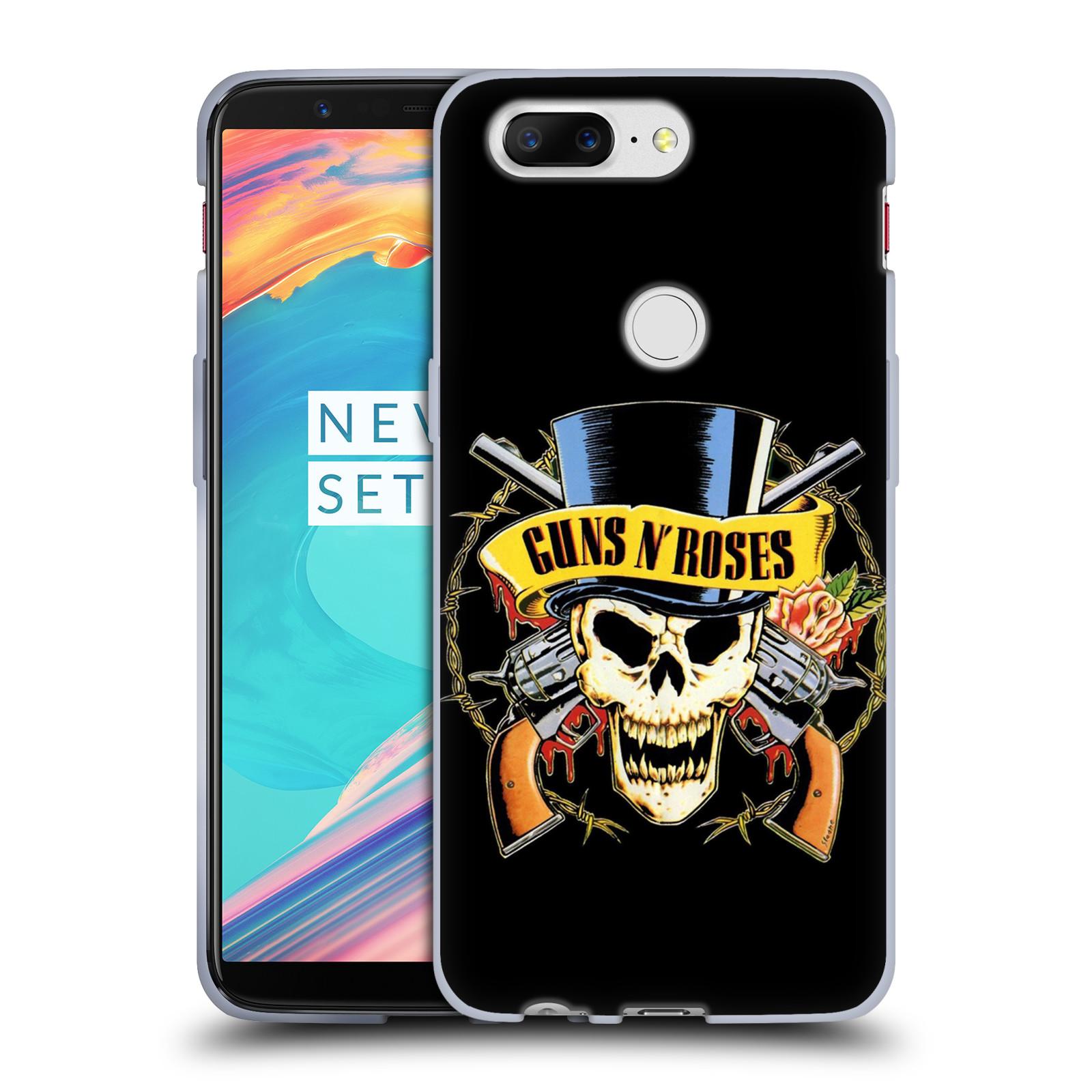 Silikonové pouzdro na mobil OnePlus 5T - Head Case - Guns N' Roses - Lebka