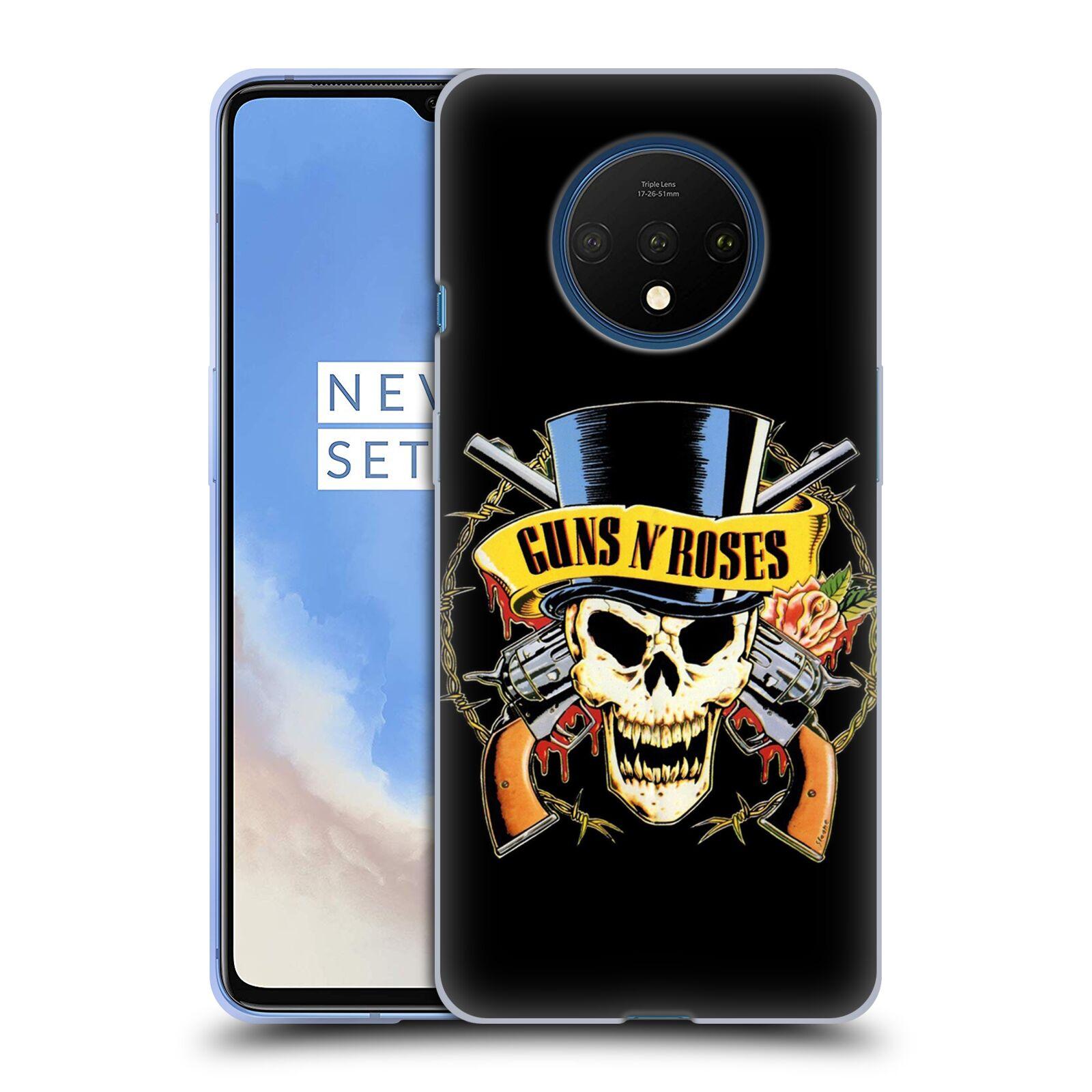 Silikonové pouzdro na mobil OnePlus 7T - Head Case - Guns N' Roses - Lebka