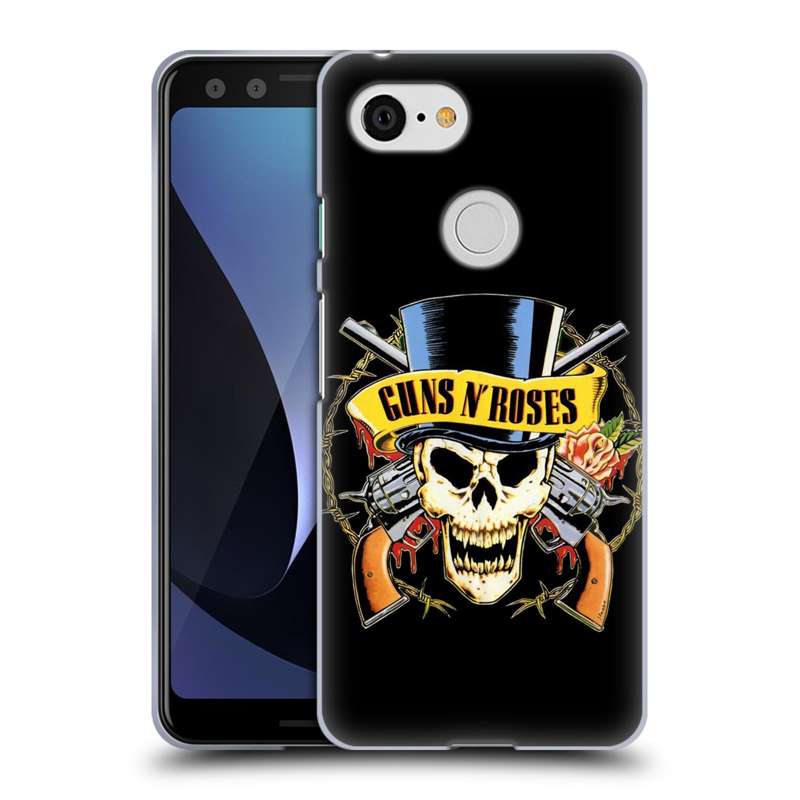 Silikonové pouzdro na mobil Google Pixel 3 - Head Case - Guns N' Roses - Lebka