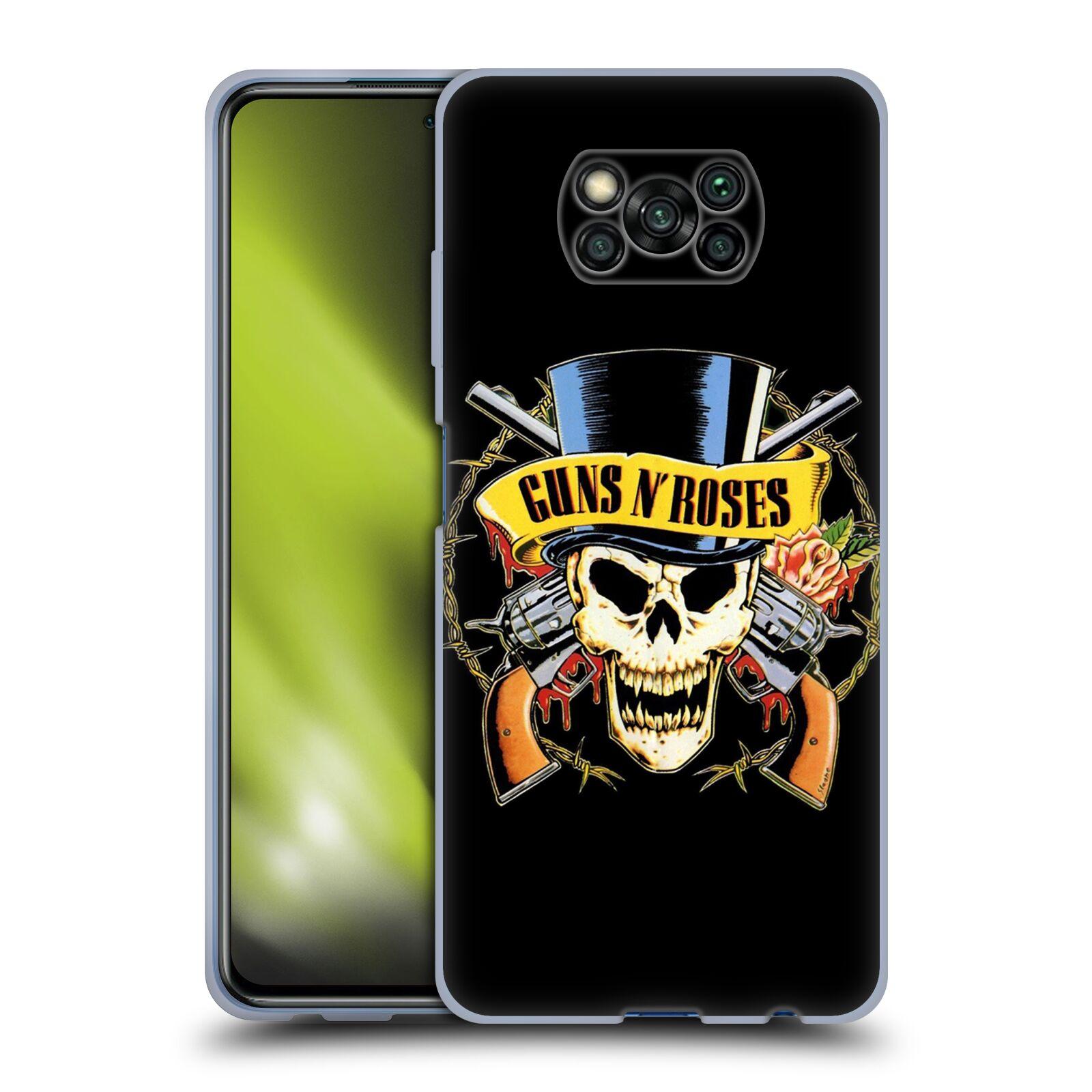 Silikonové pouzdro na mobil Xiaomi Poco X3 NFC - Head Case - Guns N' Roses - Lebka