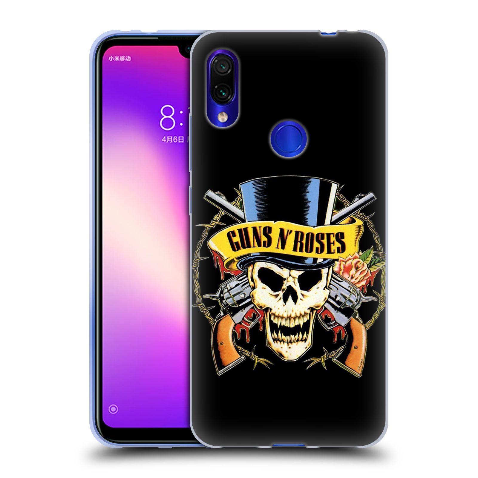 Silikonové pouzdro na mobil Xiaomi Redmi Note 7 - Head Case - Guns N' Roses - Lebka