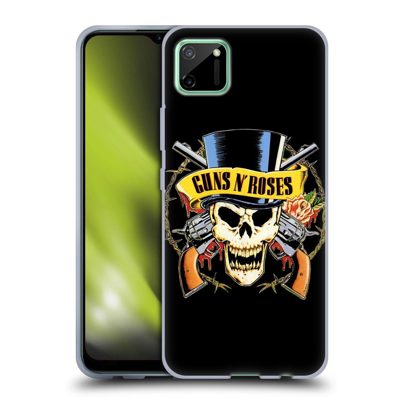 Silikonové pouzdro na mobil Realme C11 - Head Case - Guns N' Roses - Lebka