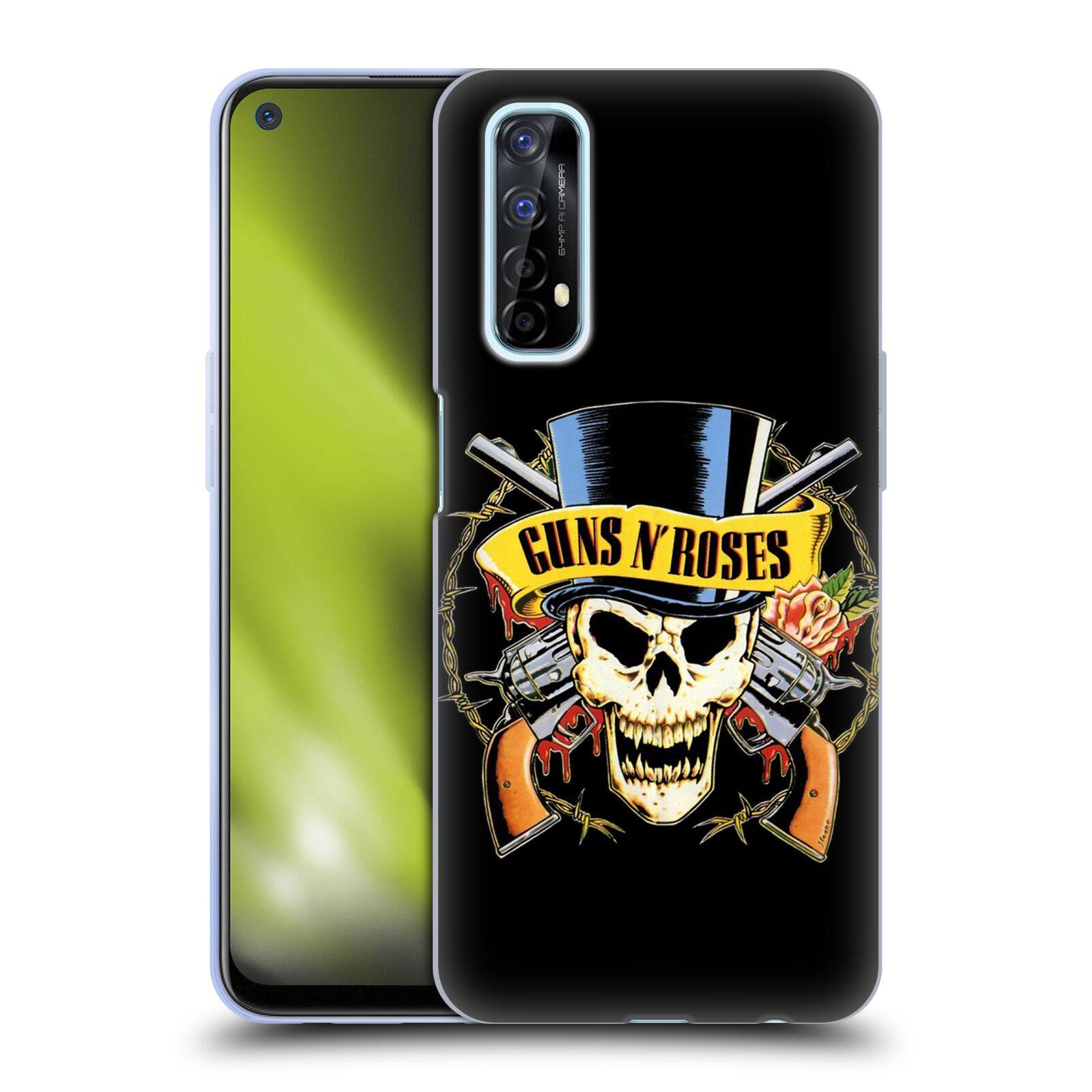 Silikonové pouzdro na mobil Realme 7 - Head Case - Guns N' Roses - Lebka