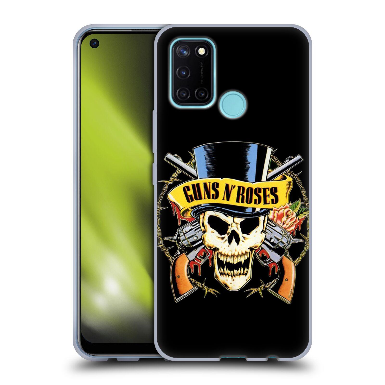 Silikonové pouzdro na mobil Realme 7i - Head Case - Guns N' Roses - Lebka
