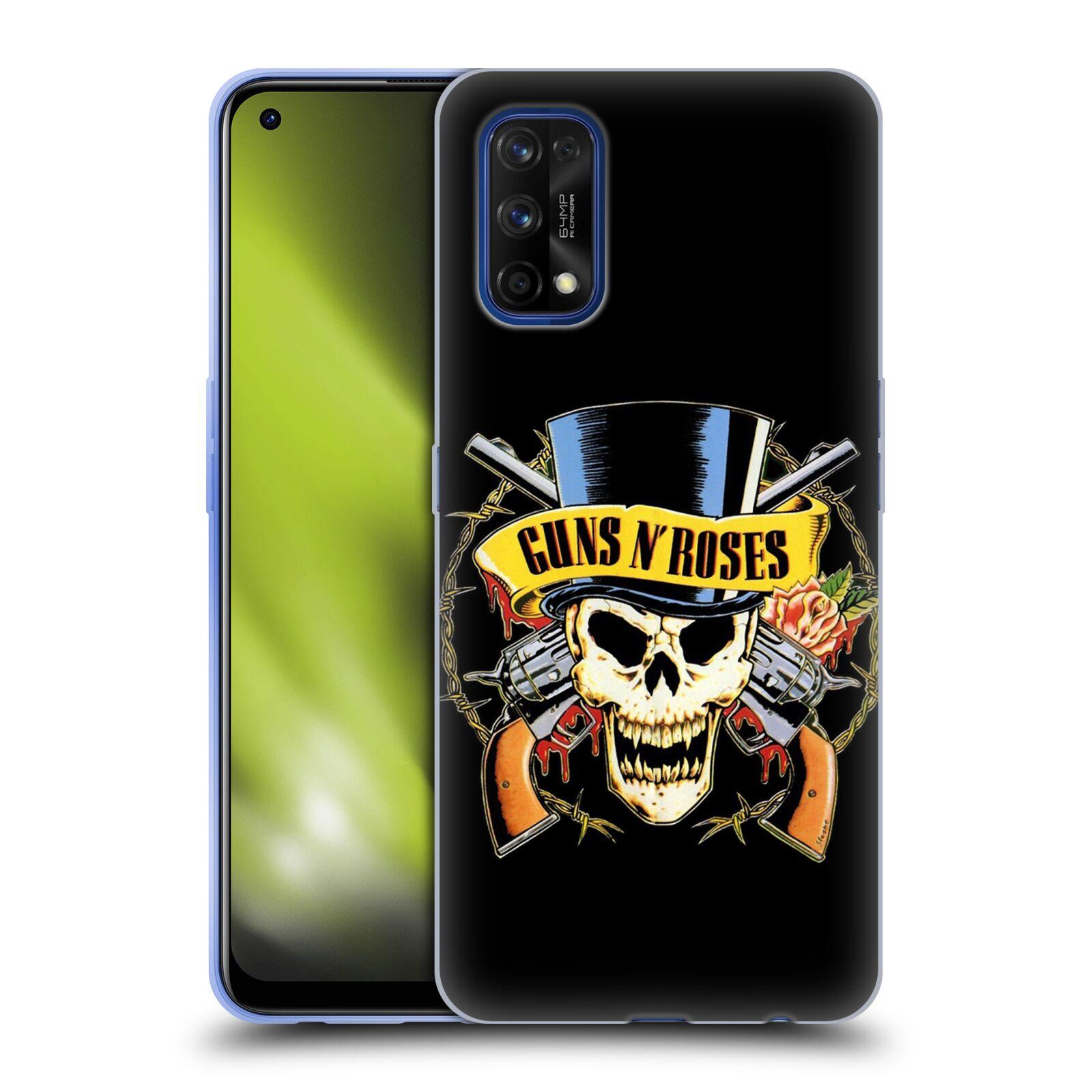 Silikonové pouzdro na mobil Realme 7 Pro - Head Case - Guns N' Roses - Lebka