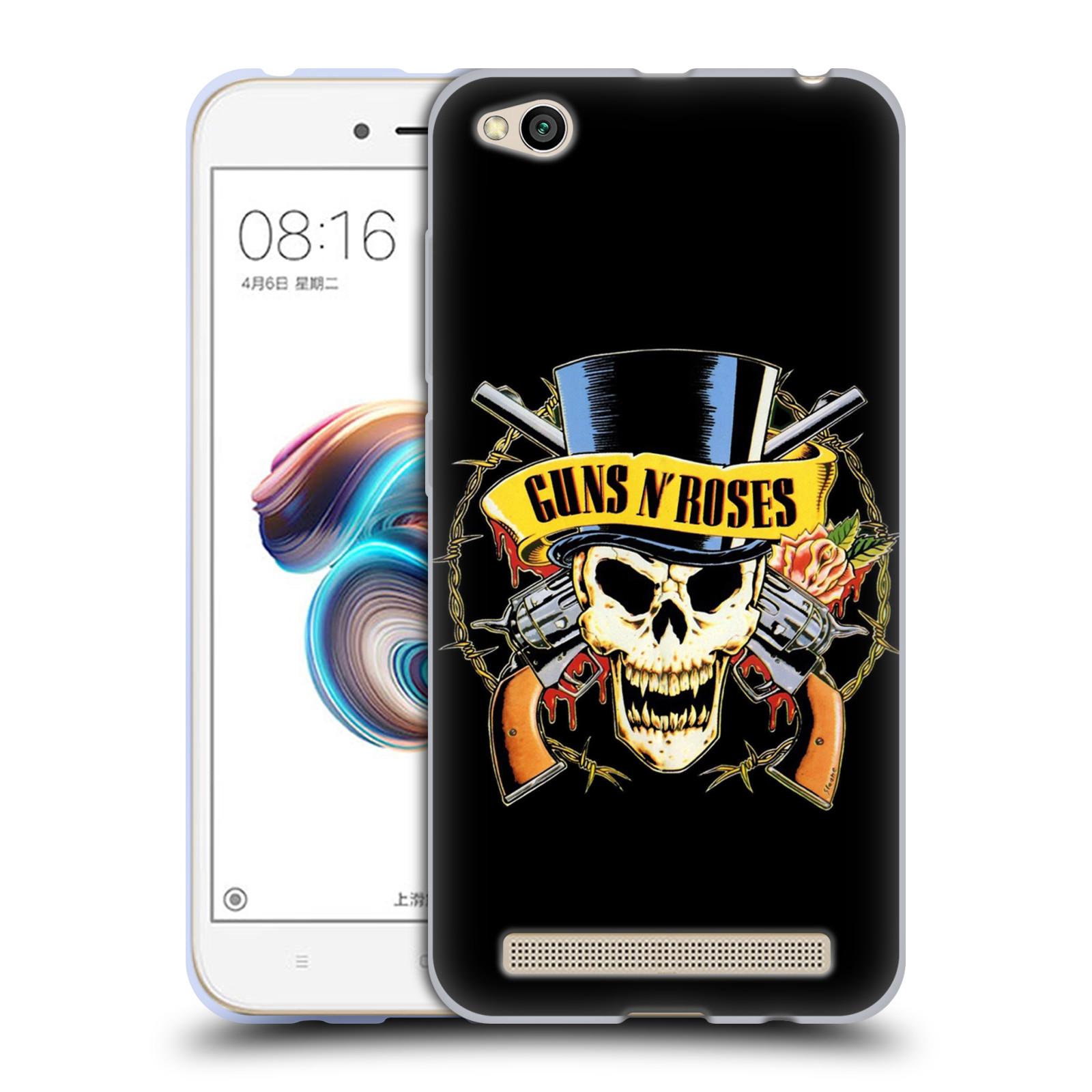 Silikonové pouzdro na mobil Xiaomi Redmi 5A - Head Case - Guns N' Roses - Lebka