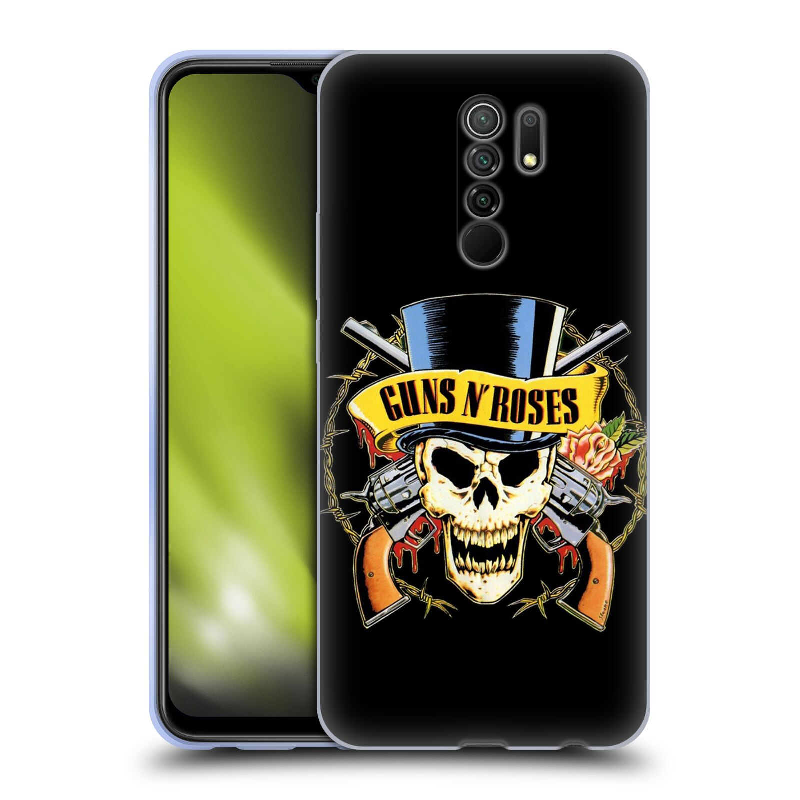 Silikonové pouzdro na mobil Xiaomi Redmi 9 - Head Case - Guns N' Roses - Lebka
