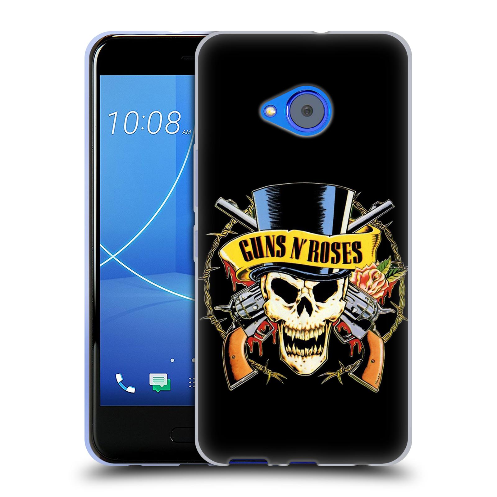 Silikonové pouzdro na mobil HTC U11 Life - Head Case - Guns N' Roses - Lebka
