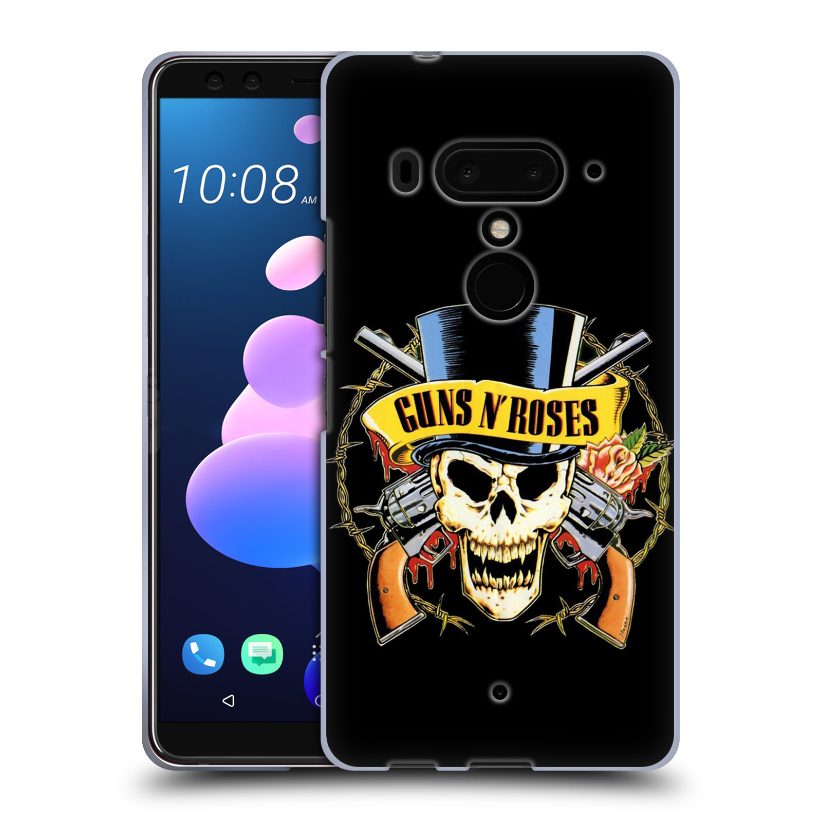 Silikonové pouzdro na mobil HTC U12 Plus - Head Case - Guns N' Roses - Lebka