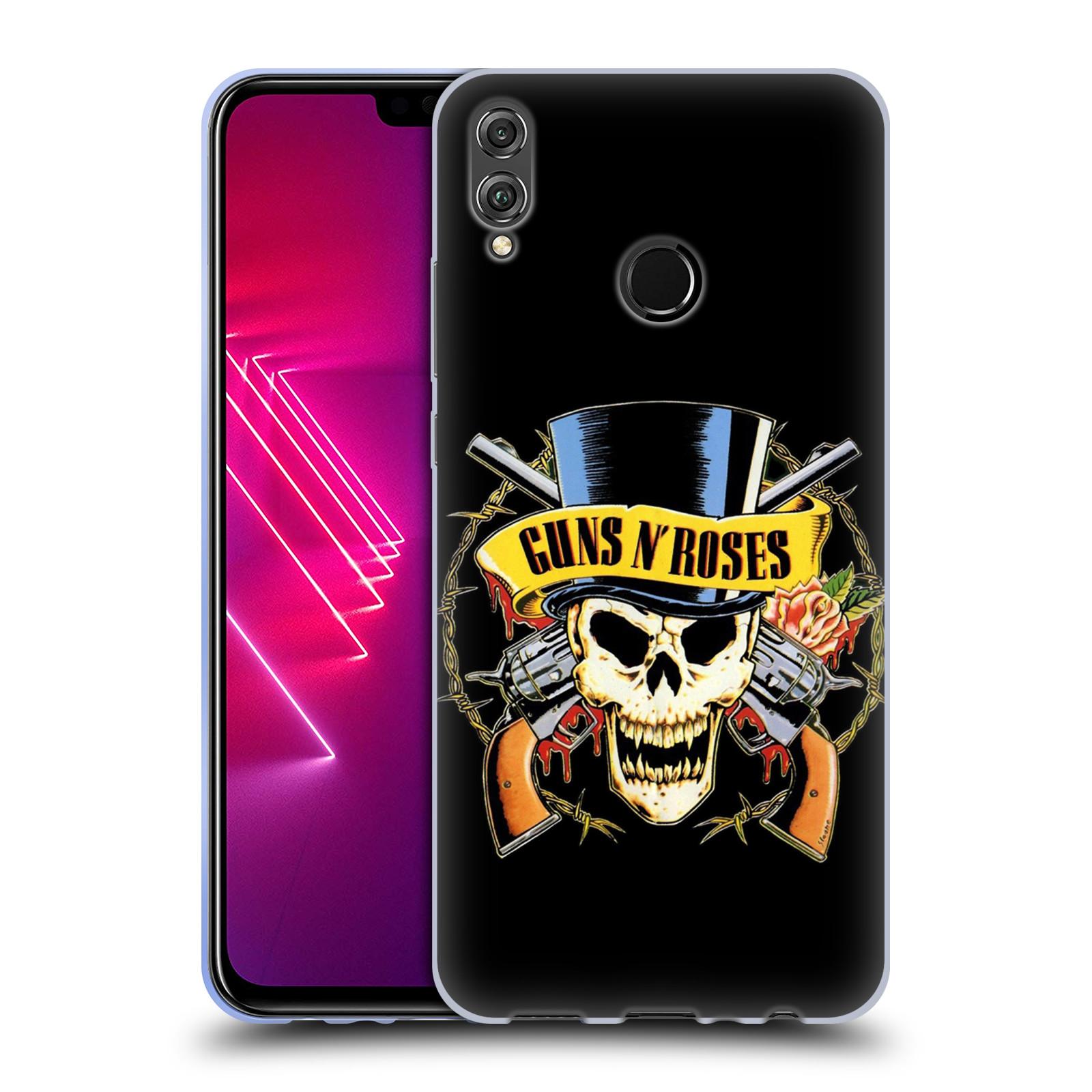 Silikonové pouzdro na mobil Honor View 10 Lite - Head Case - Guns N' Roses - Lebka