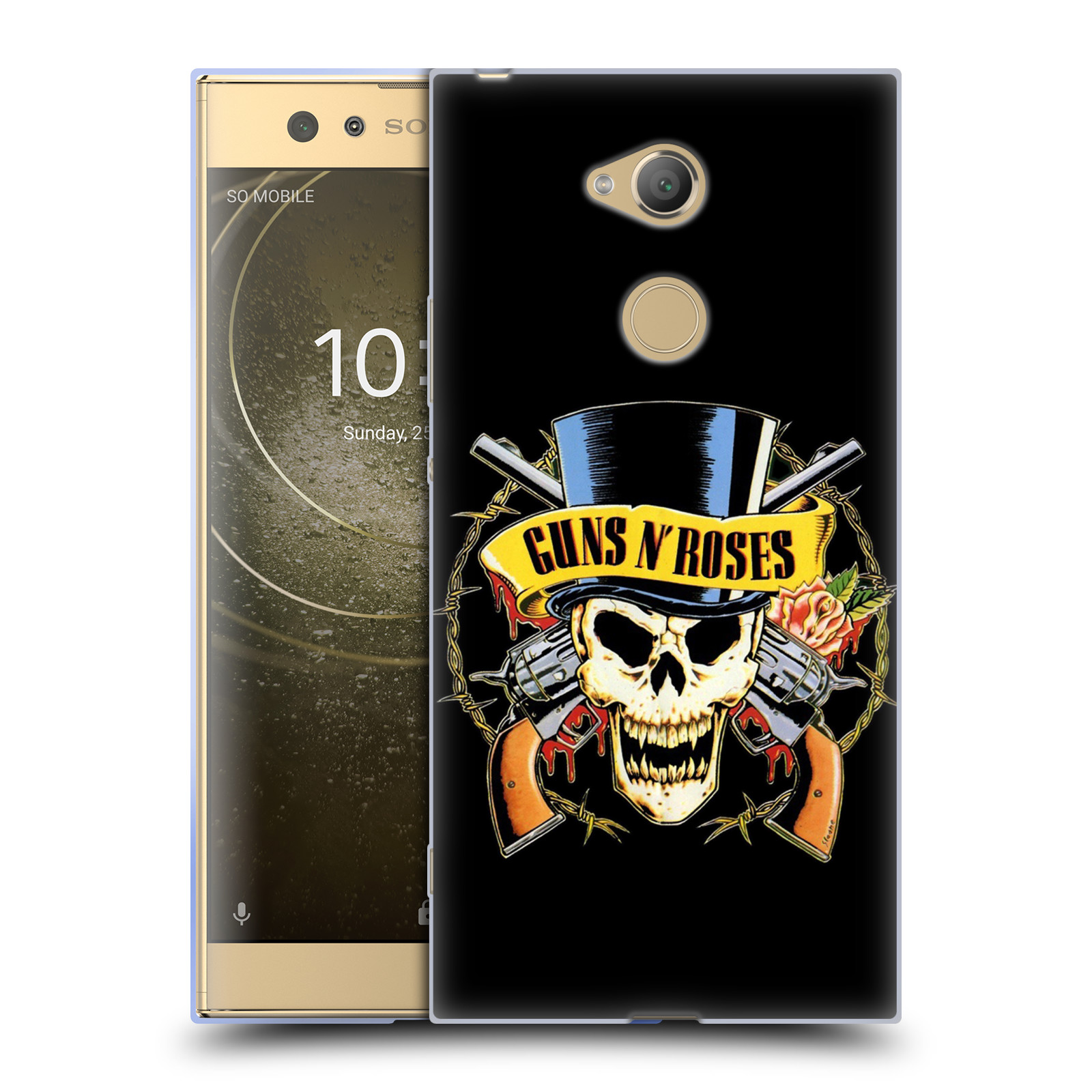 Silikonové pouzdro na mobil Sony Xperia XA2 Ultra - Head Case - Guns N' Roses - Lebka