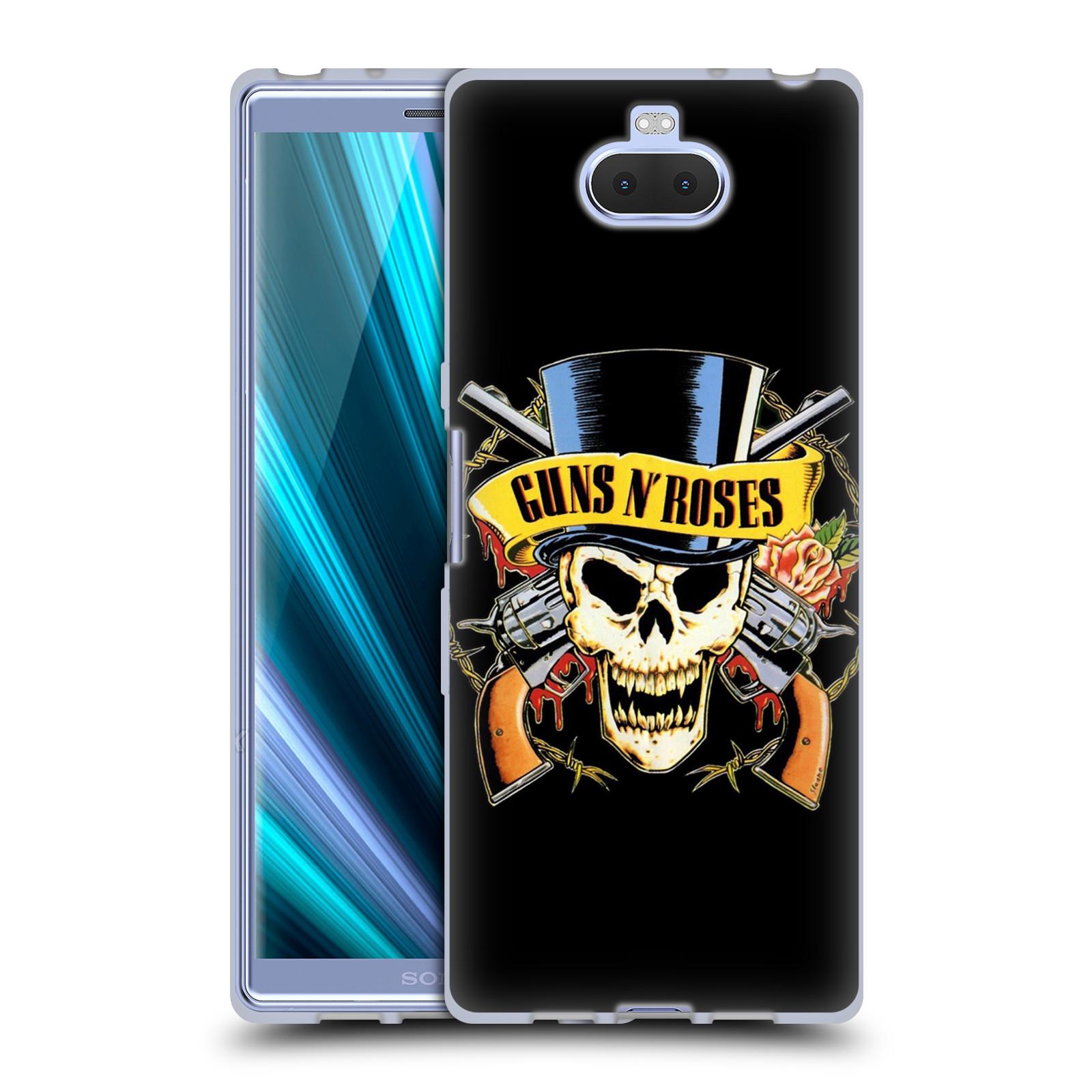 Silikonové pouzdro na mobil Sony Xperia 10 - Head Case - Guns N' Roses - Lebka