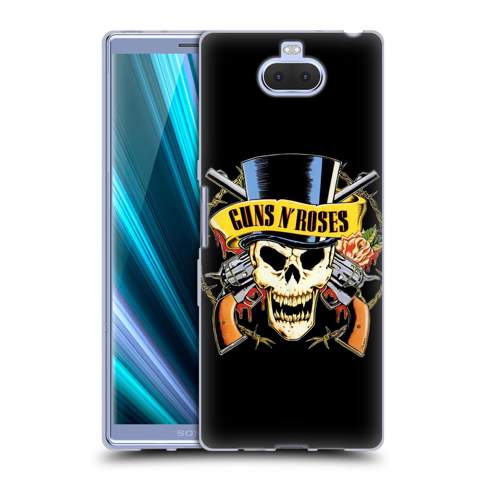 Silikonové pouzdro na mobil Sony Xperia 10 Plus - Head Case - Guns N' Roses - Lebka