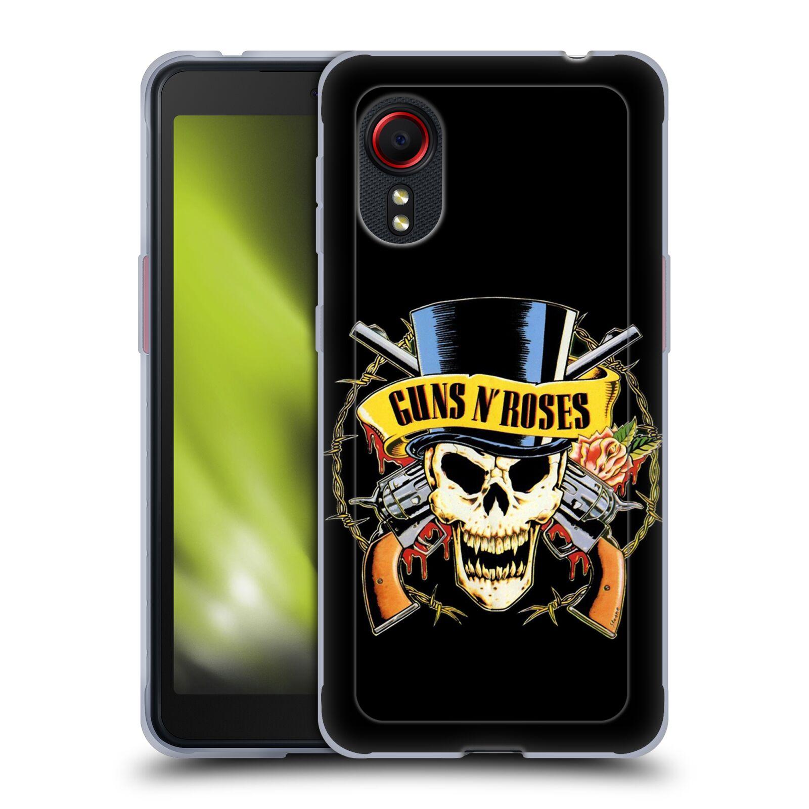 Silikonové pouzdro na mobil Samsung Galaxy Xcover 5 - Head Case - Guns N' Roses - Lebka