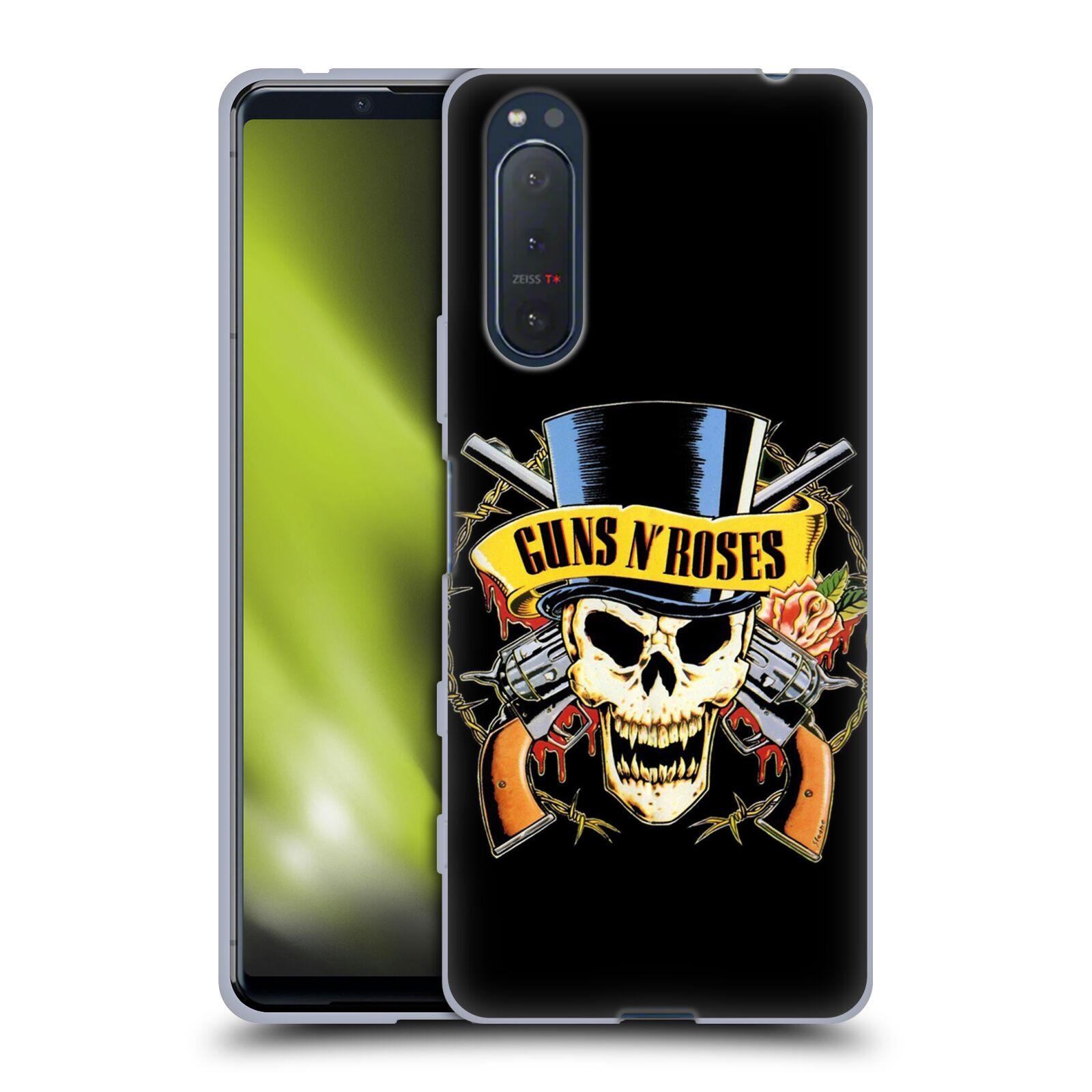 Silikonové pouzdro na mobil Sony Xperia 5 II - Head Case - Guns N' Roses - Lebka