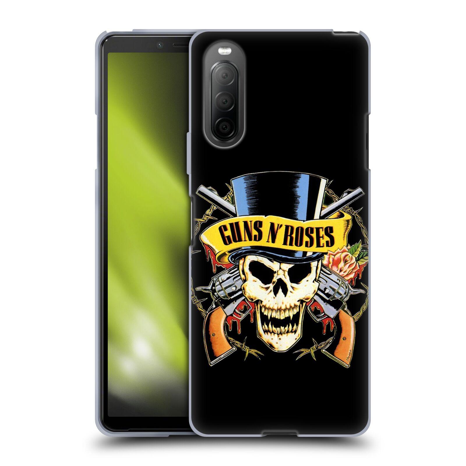 Silikonové pouzdro na mobil Sony Xperia 10 II - Head Case - Guns N' Roses - Lebka