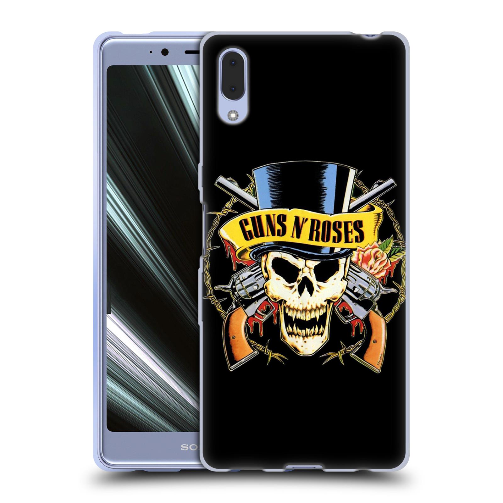 Silikonové pouzdro na mobil Sony Xperia L3 - Head Case - Guns N' Roses - Lebka
