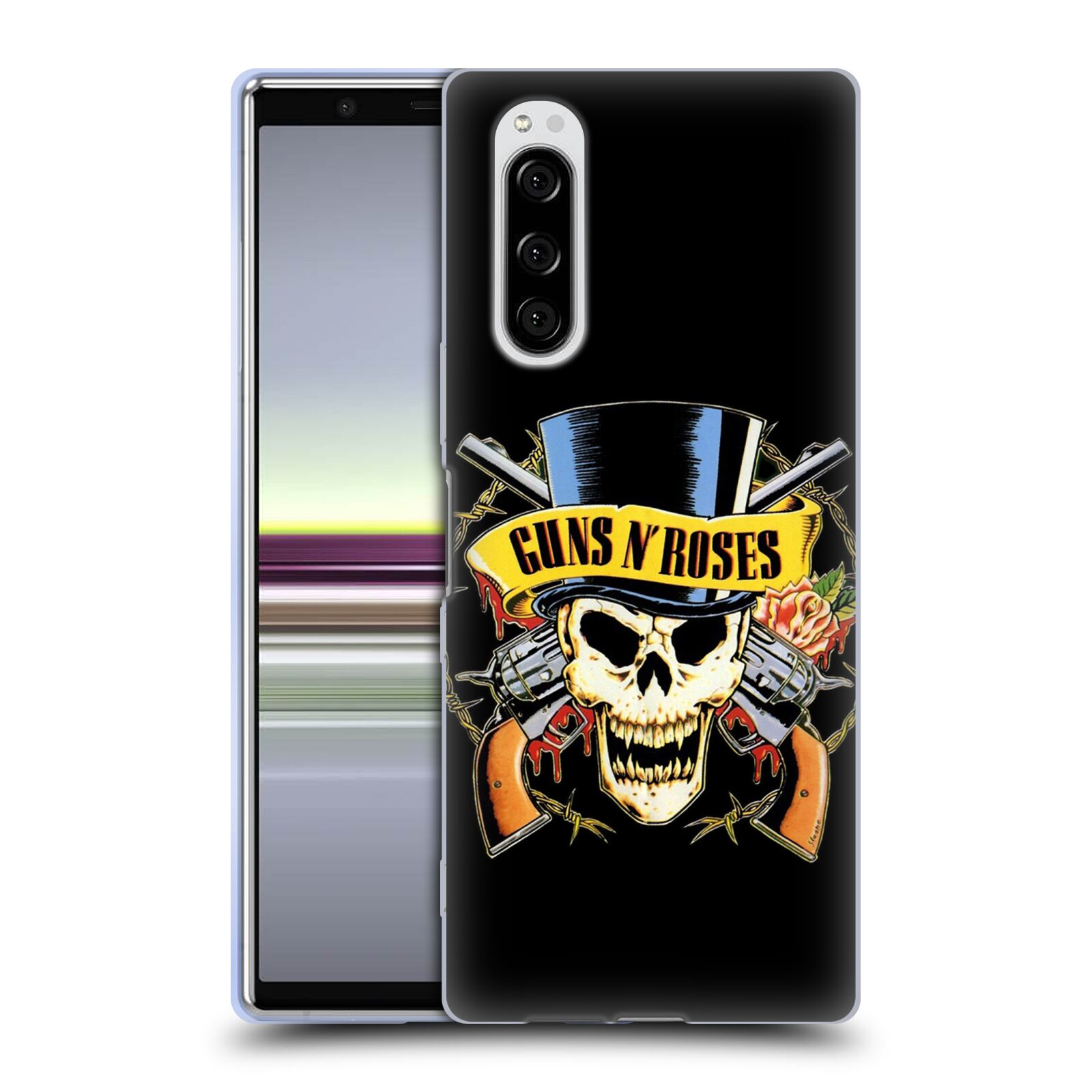 Silikonové pouzdro na mobil Sony Xperia 5 - Head Case - Guns N' Roses - Lebka