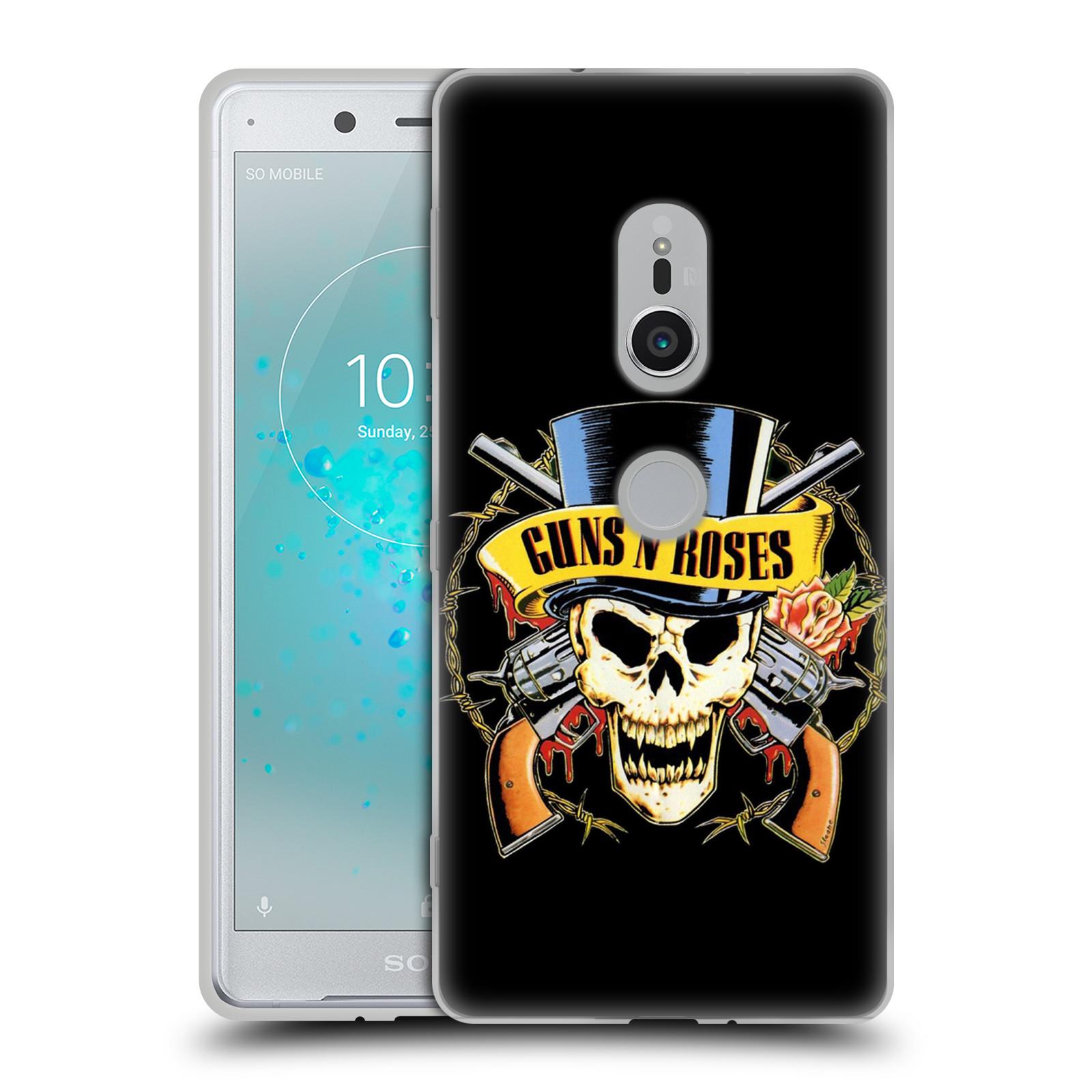 Silikonové pouzdro na mobil Sony Xperia XZ2 - Head Case - Guns N' Roses - Lebka