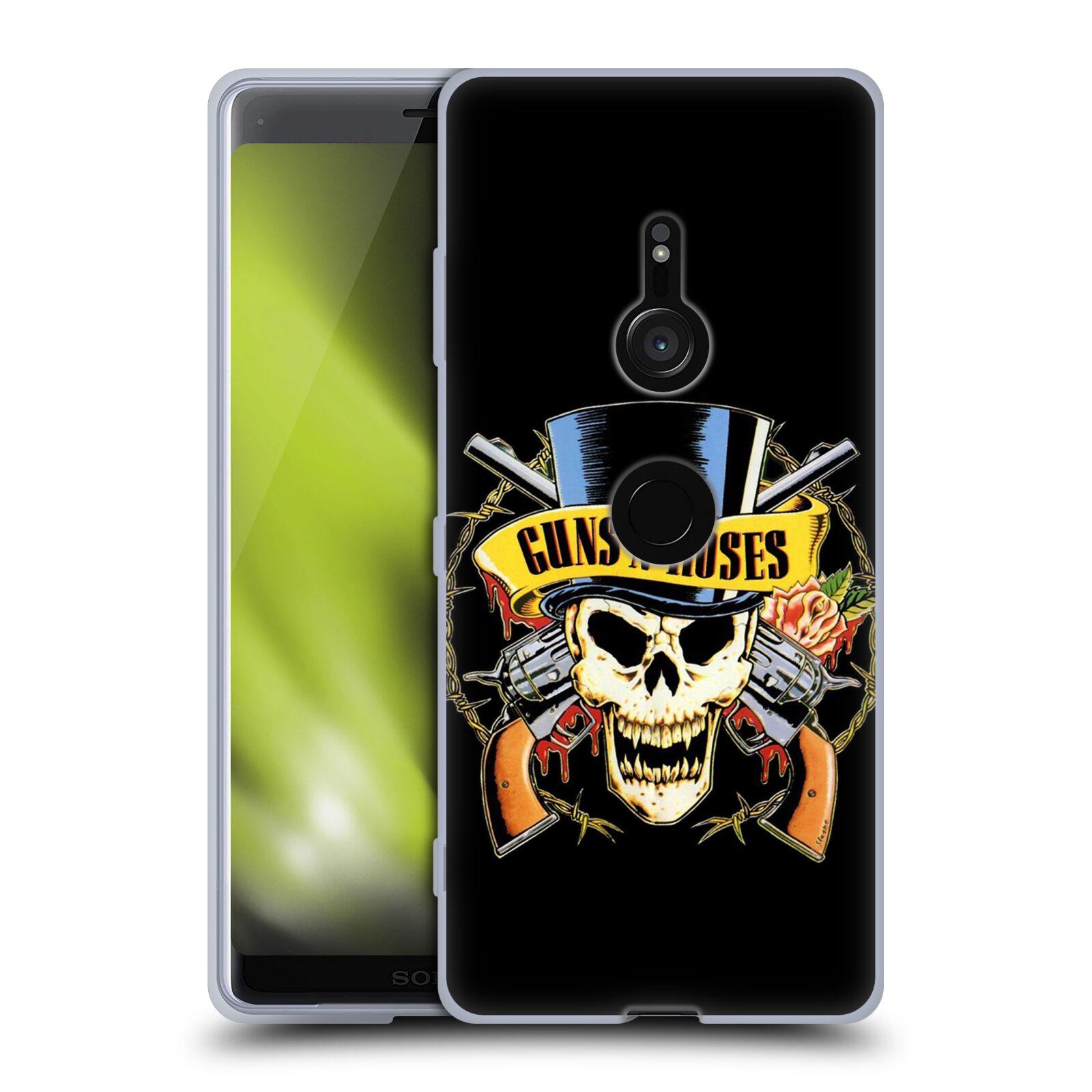 Silikonové pouzdro na mobil Sony Xperia XZ3 - Head Case - Guns N' Roses - Lebka