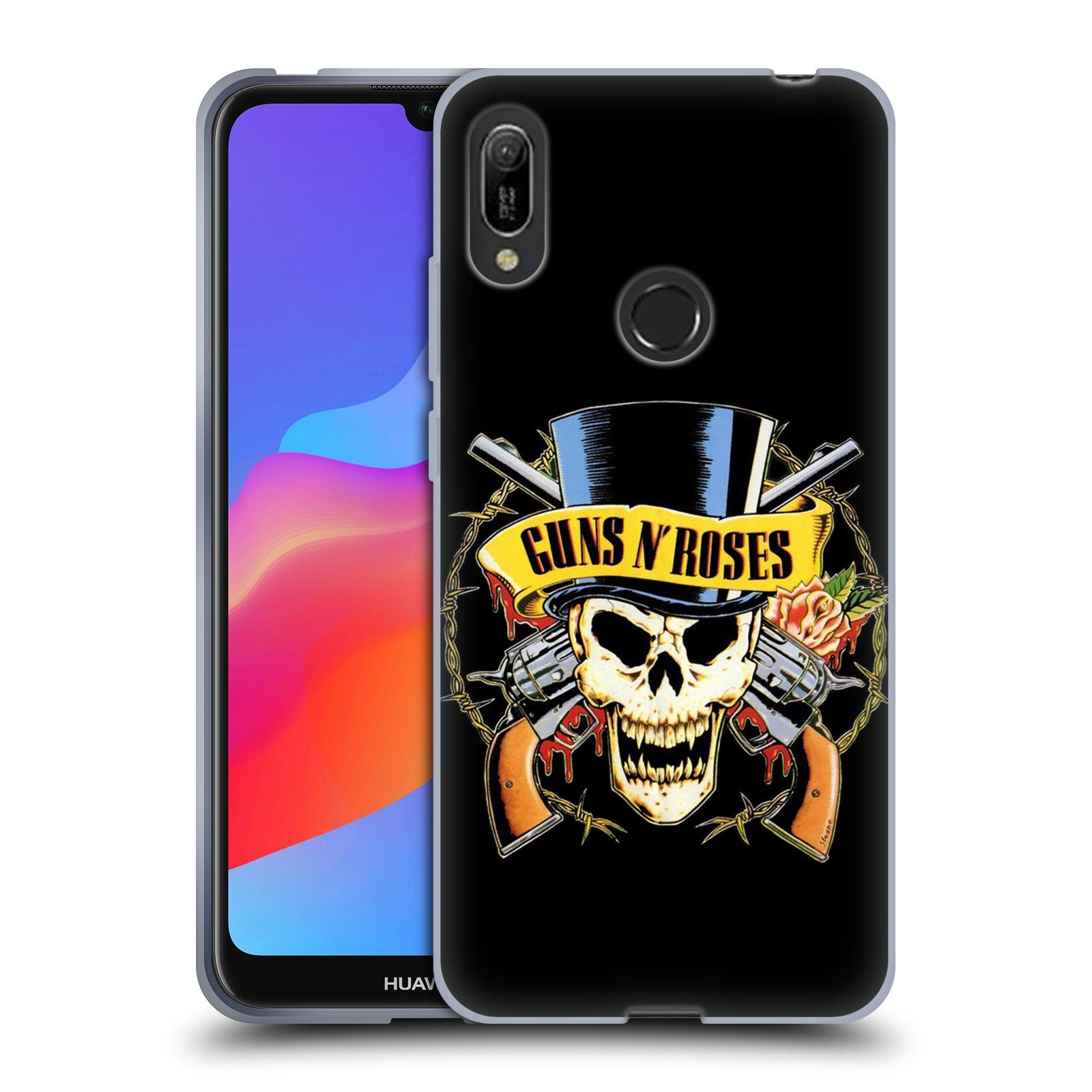 Silikonové pouzdro na mobil Huawei Y6 (2019) - Head Case - Guns N' Roses - Lebka