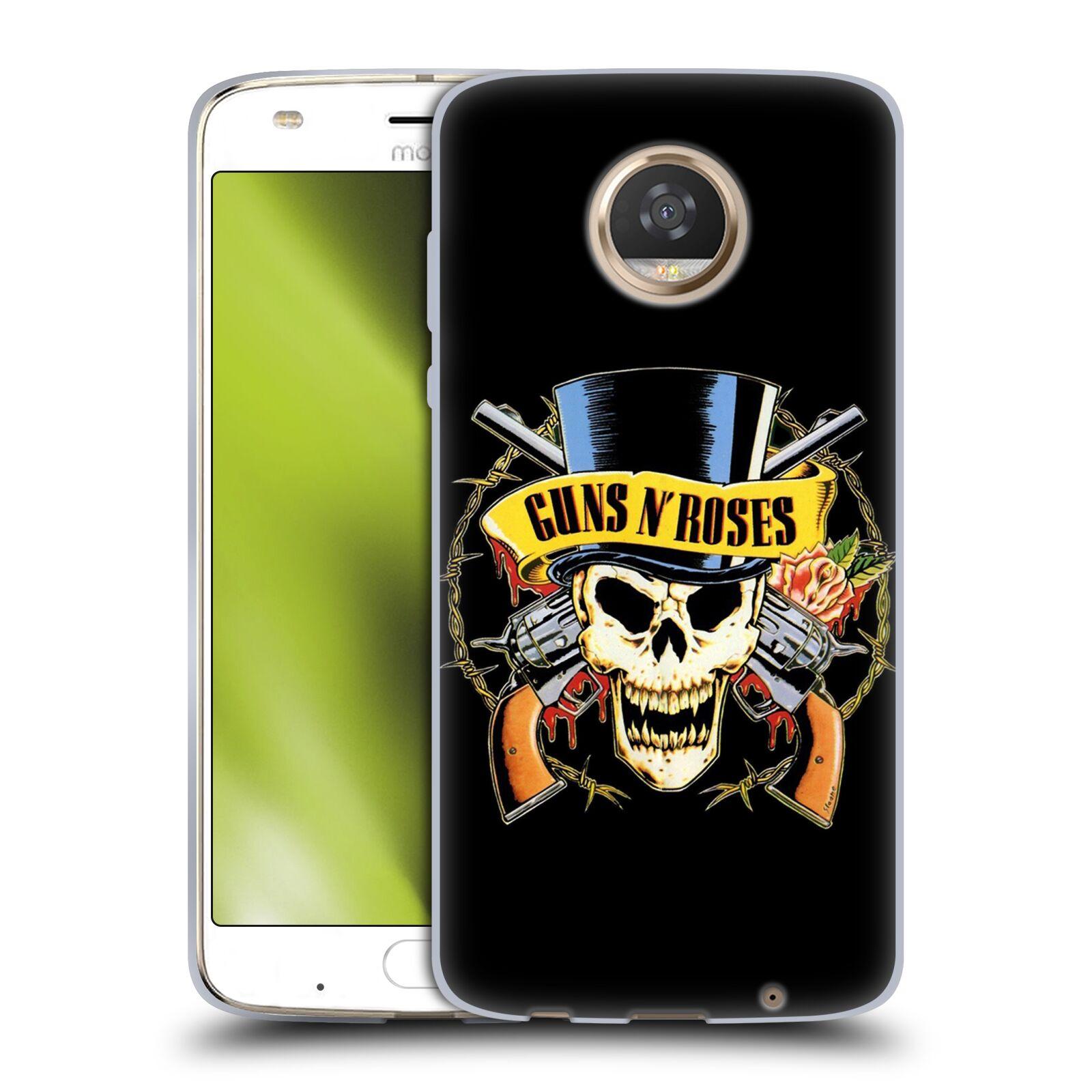Silikonové pouzdro na mobil Lenovo Moto Z2 Play - Head Case - Guns N' Roses - Lebka