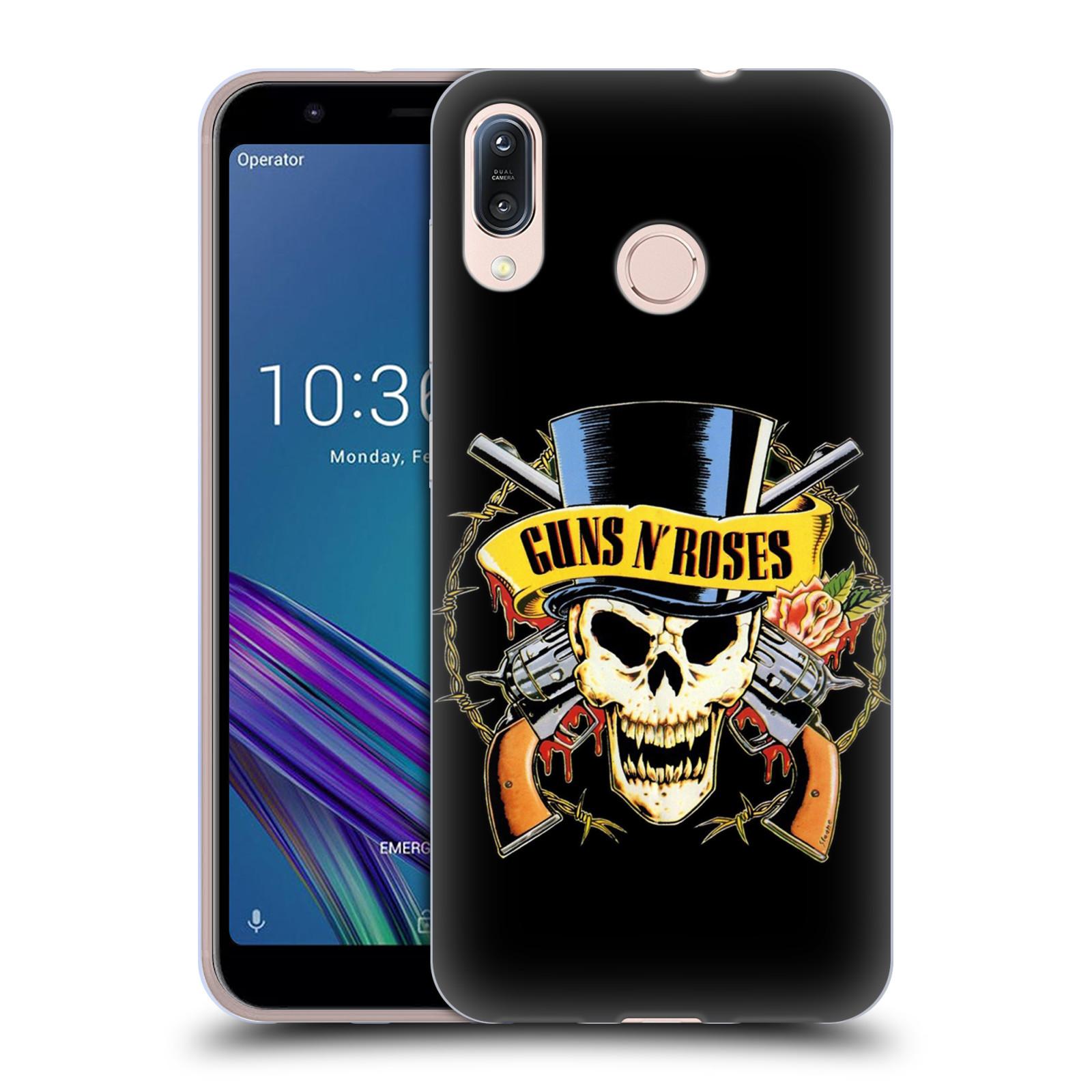 Silikonové pouzdro na mobil Asus Zenfone Max M1 ZB555KL - Head Case - Guns N' Roses - Lebka