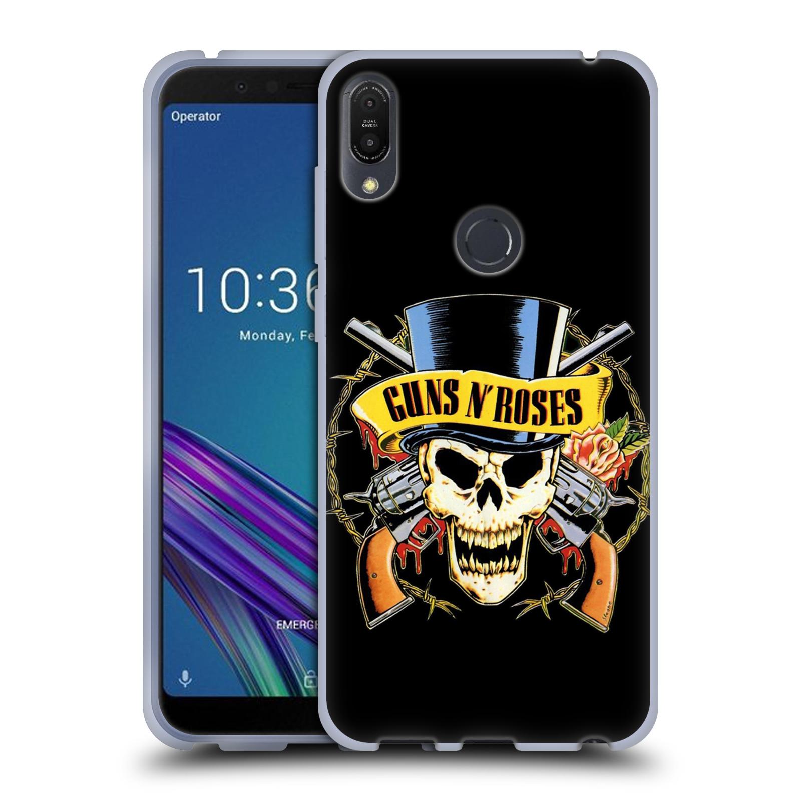 Silikonové pouzdro na mobil Asus ZenFone Max Pro (M1) - Head Case - Guns N' Roses - Lebka