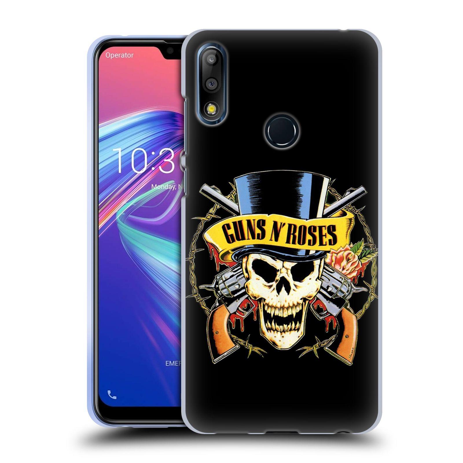 Silikonové pouzdro na mobil Asus Zenfone Max Pro M2 ZB631KL - Head Case - Guns N' Roses - Lebka