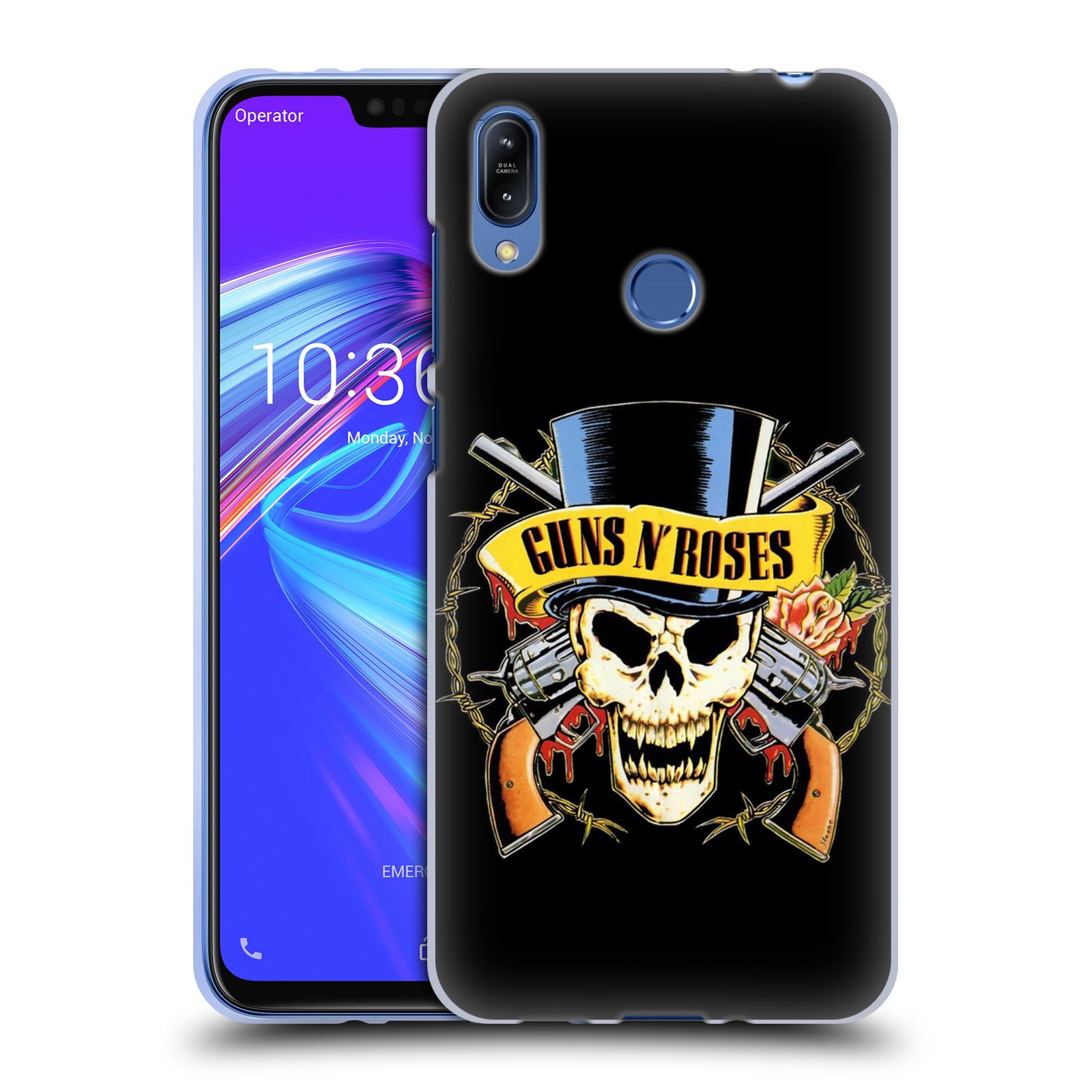Silikonové pouzdro na mobil Asus Zenfone Max (M2) ZB633KL - Head Case - Guns N' Roses - Lebka