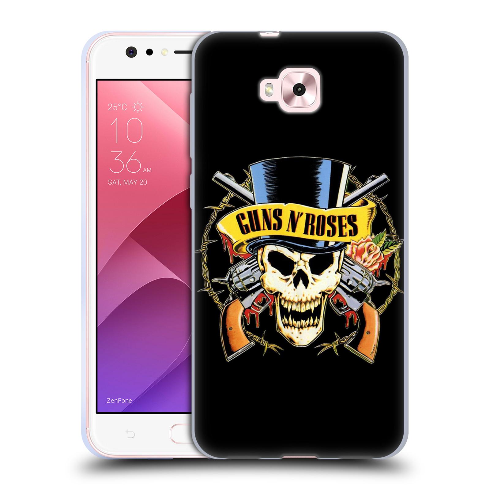 Silikonové pouzdro na mobil Asus Zenfone 4 Selfie ZD553KL - Head Case - Guns N' Roses - Lebka