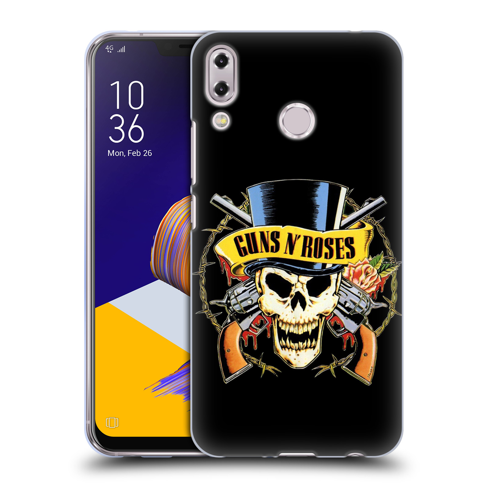 Silikonové pouzdro na mobil Asus ZenFone 5 ZE620KL - Head Case - Guns N' Roses - Lebka