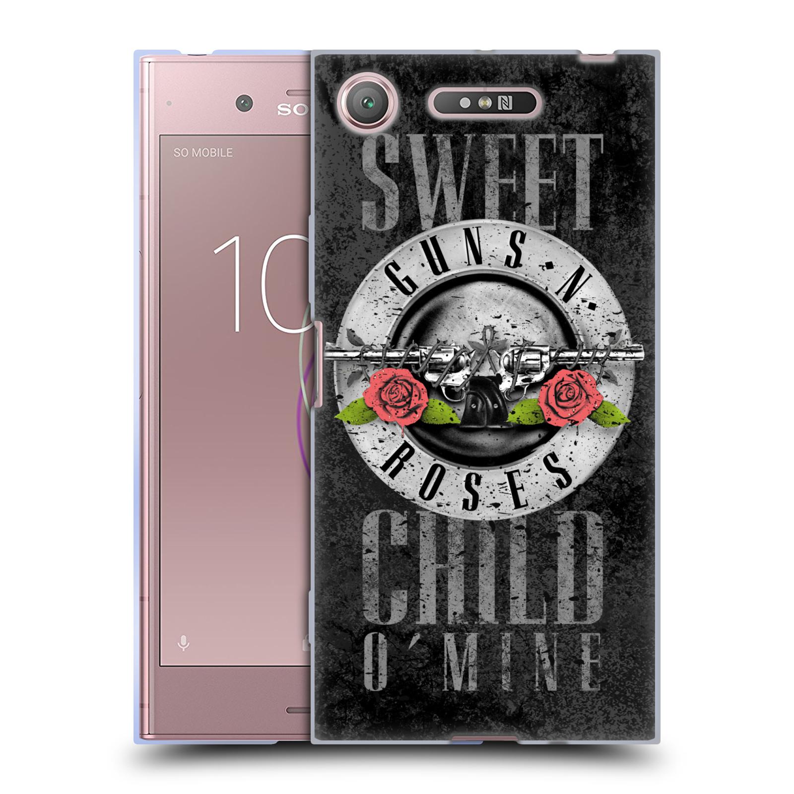 Silikonové pouzdro na mobil Sony Xperia XZ1 - Head Case - Guns N' Roses - Sweet Child