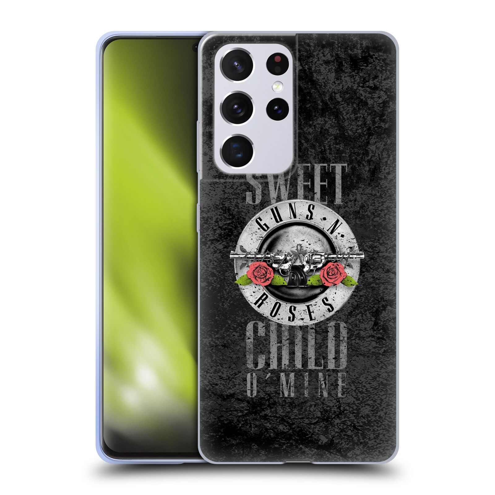 Silikonové pouzdro na mobil Samsung Galaxy S21 Ultra 5G - Head Case - Guns N' Roses - Sweet Child