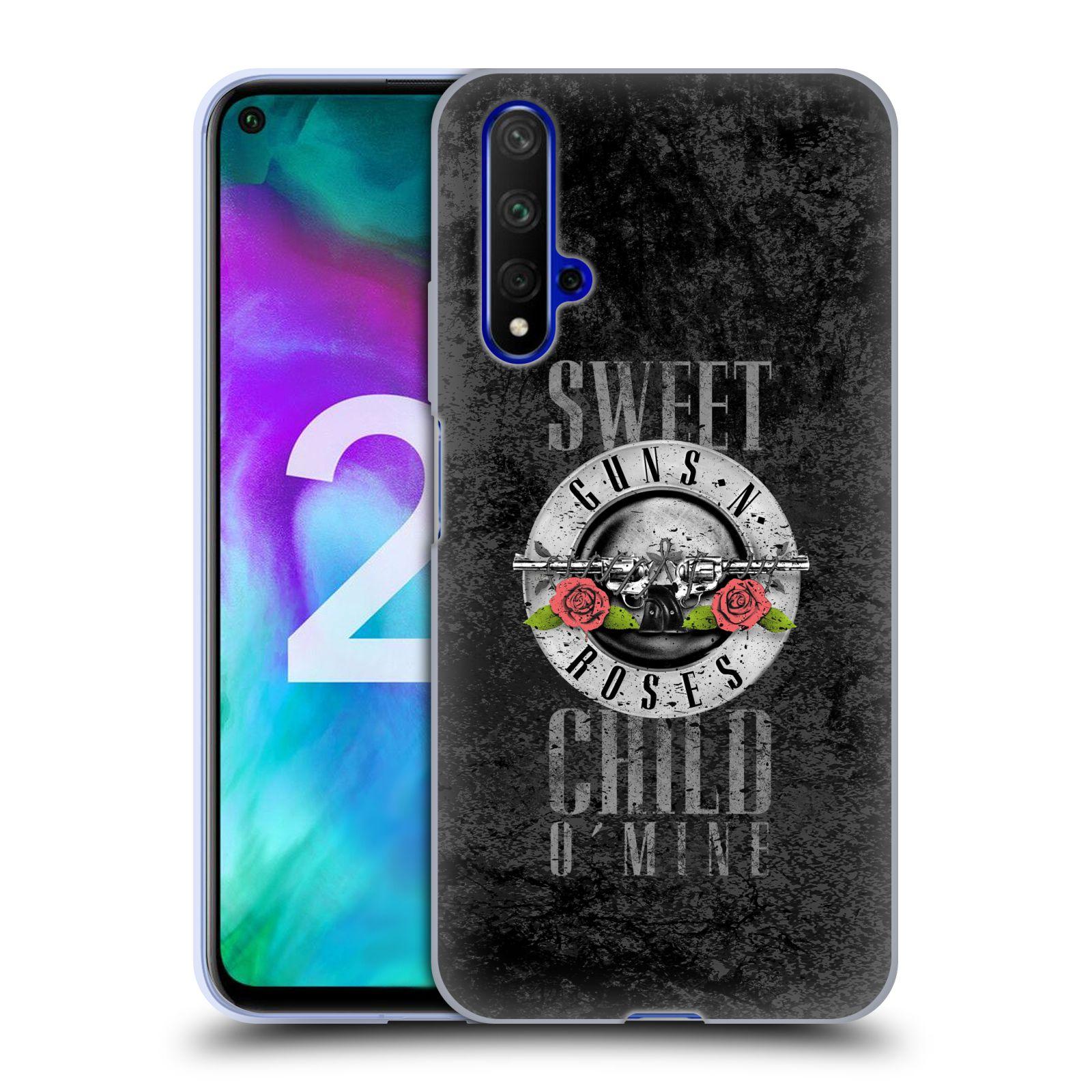 Silikonové pouzdro na mobil Honor 20 - Head Case - Guns N' Roses - Sweet Child