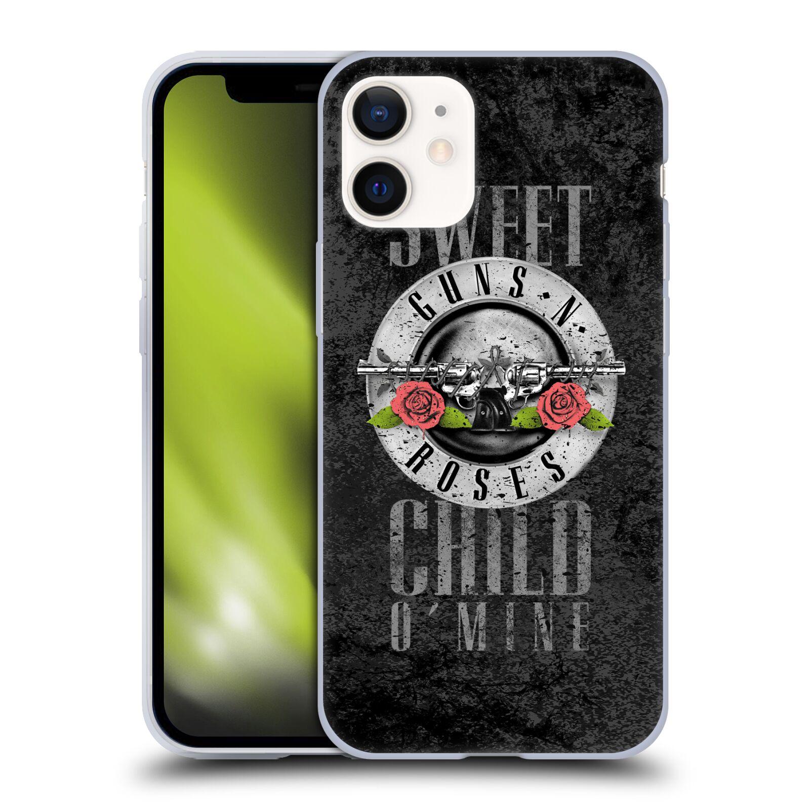 Silikonové pouzdro na mobil Apple iPhone 12 Mini - Head Case - Guns N' Roses - Sweet Child