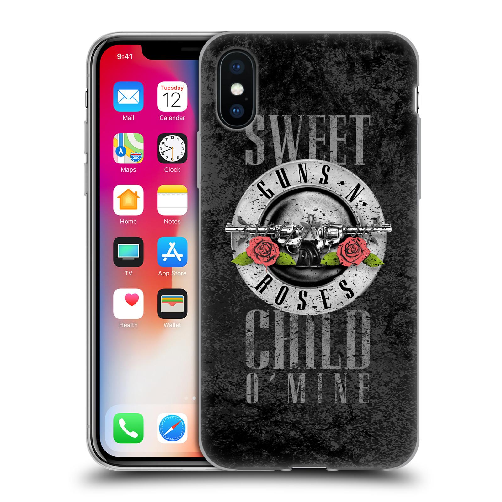 Silikonové pouzdro na mobil Apple iPhone XS - Head Case - Guns N' Roses - Sweet Child