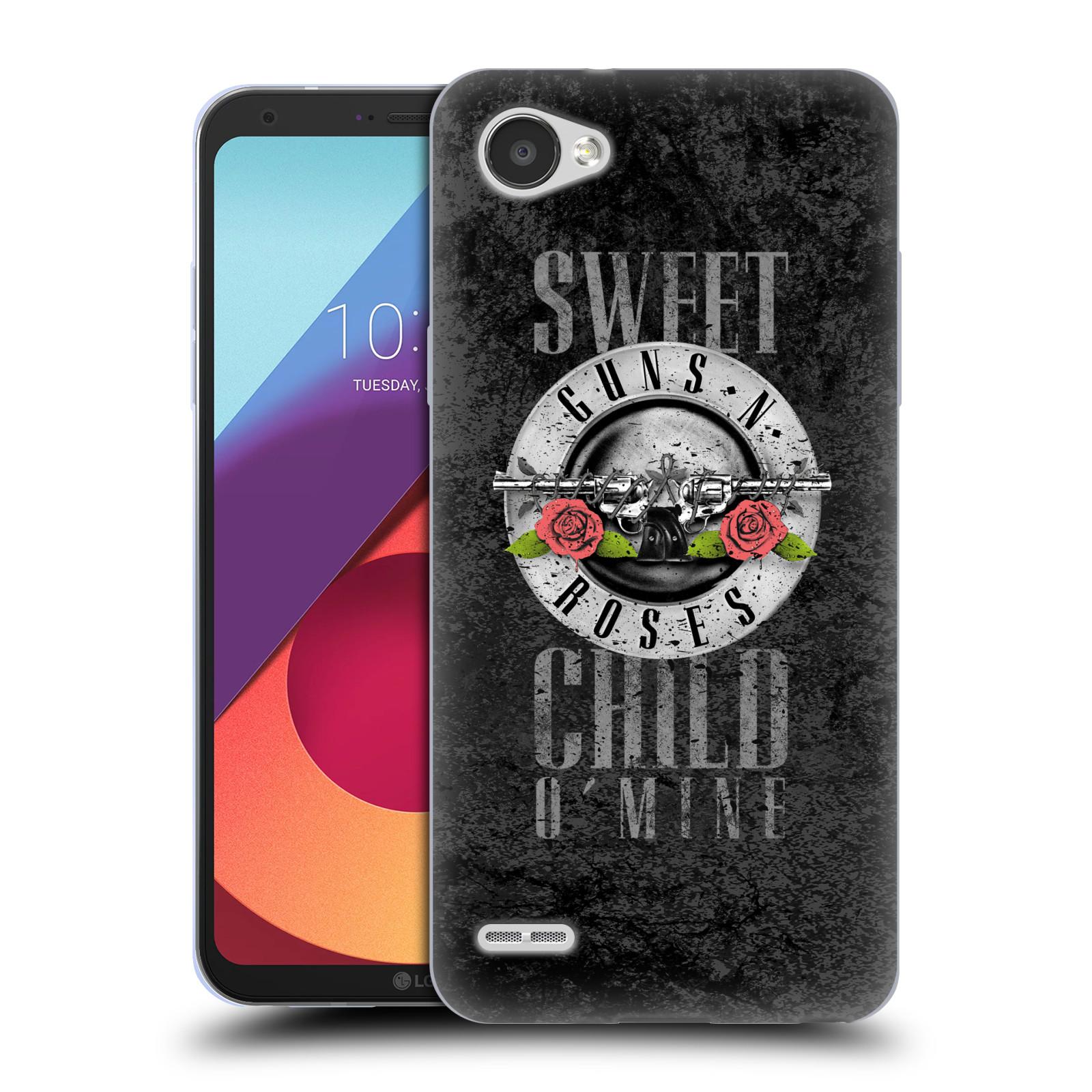 Silikonové pouzdro na mobil LG Q6 - Head Case - Guns N' Roses - Sweet Child
