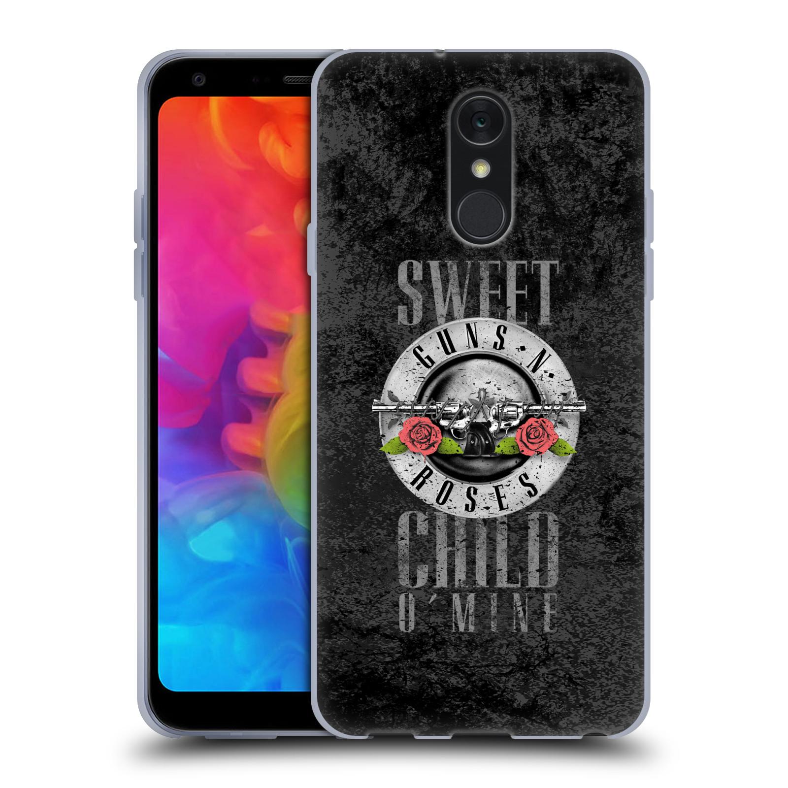 Silikonové pouzdro na mobil LG Q7 - Head Case - Guns N' Roses - Sweet Child