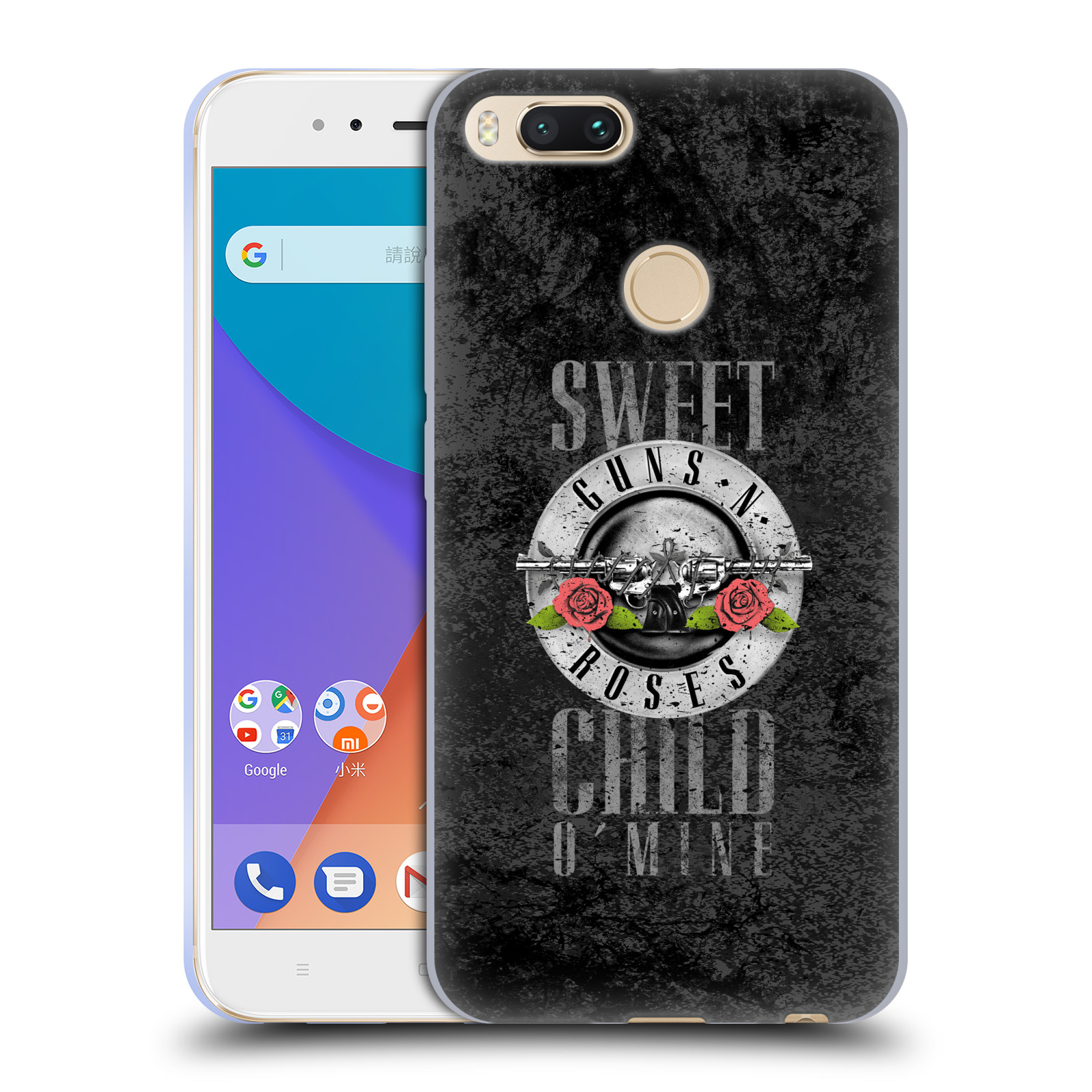 Silikonové pouzdro na mobil Xiaomi Mi A1 - Head Case - Guns N' Roses - Sweet Child