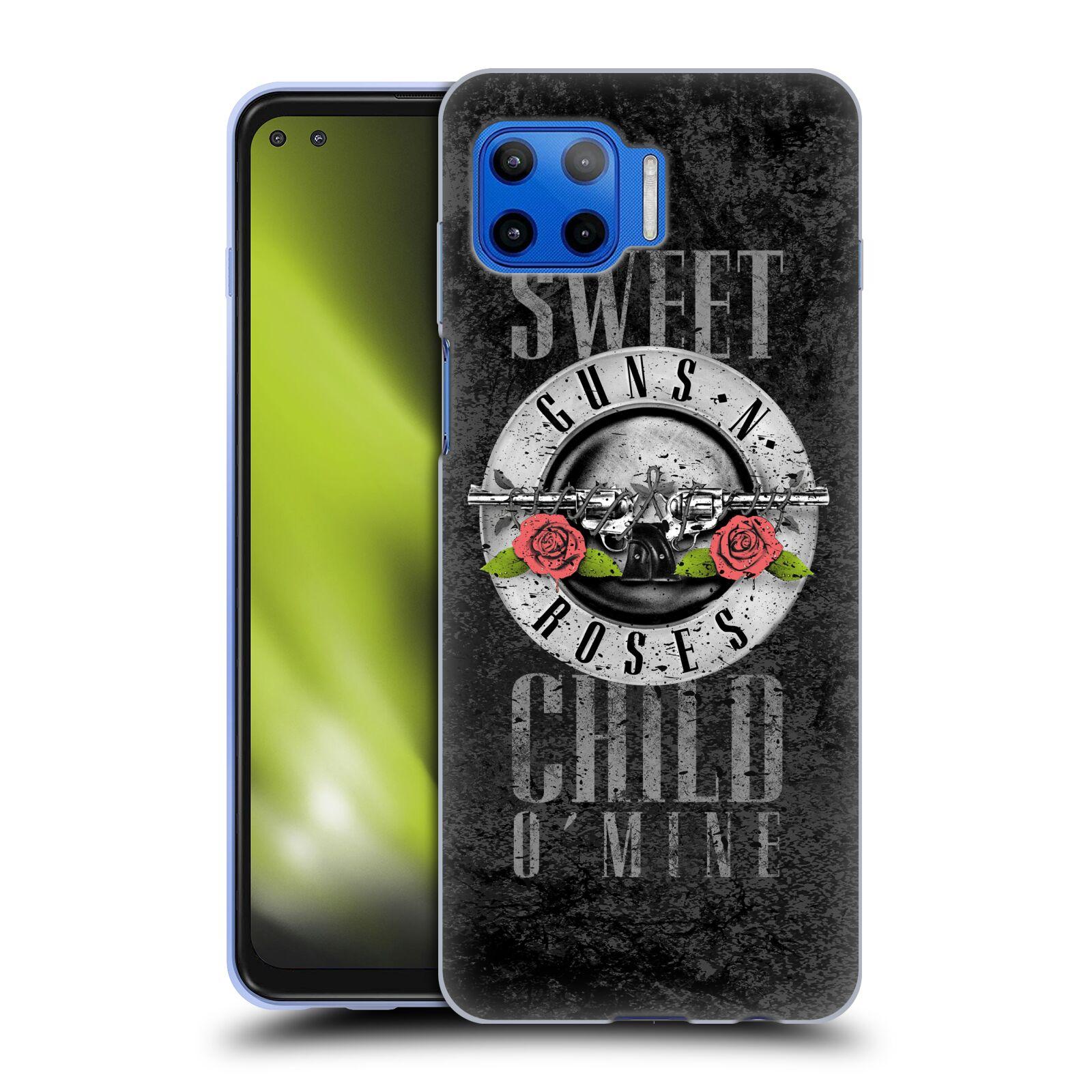 Silikonové pouzdro na mobil Motorola Moto G 5G Plus - Head Case - Guns N' Roses - Sweet Child