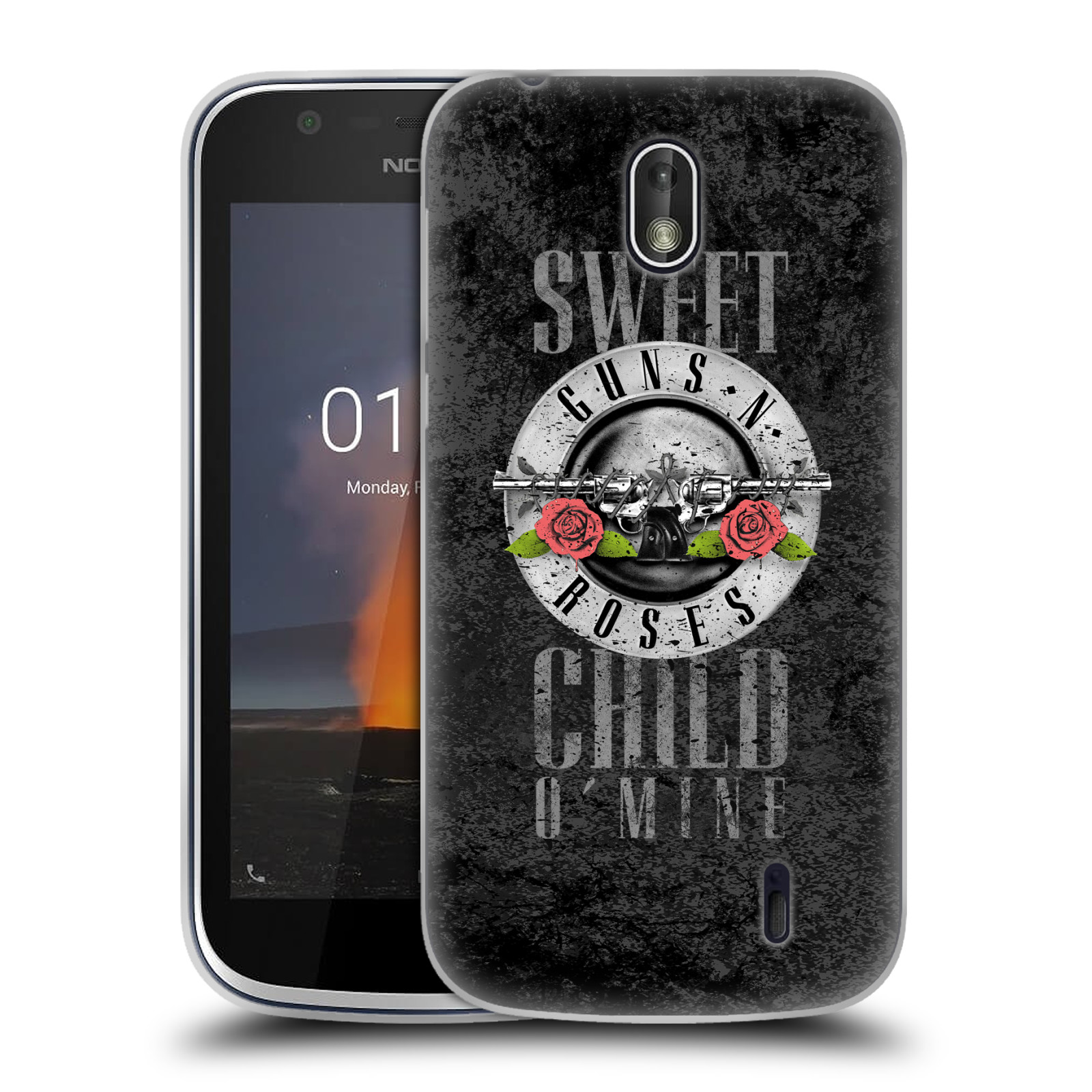 Silikonové pouzdro na mobil Nokia 1 - Head Case - Guns N' Roses - Sweet Child