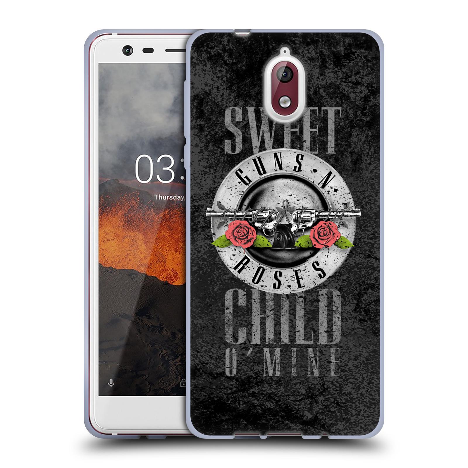Silikonové pouzdro na mobil Nokia 3.1 - Head Case - Guns N' Roses - Sweet Child