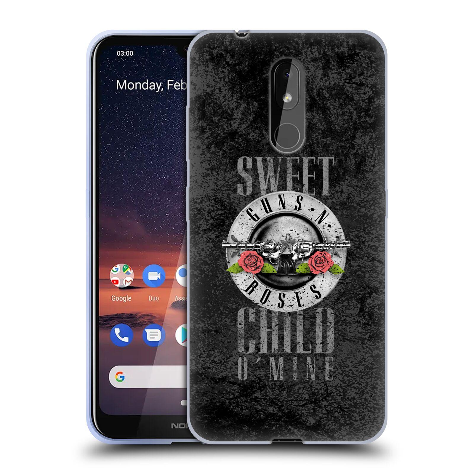 Silikonové pouzdro na mobil Nokia 3.2 - Head Case - Guns N' Roses - Sweet Child