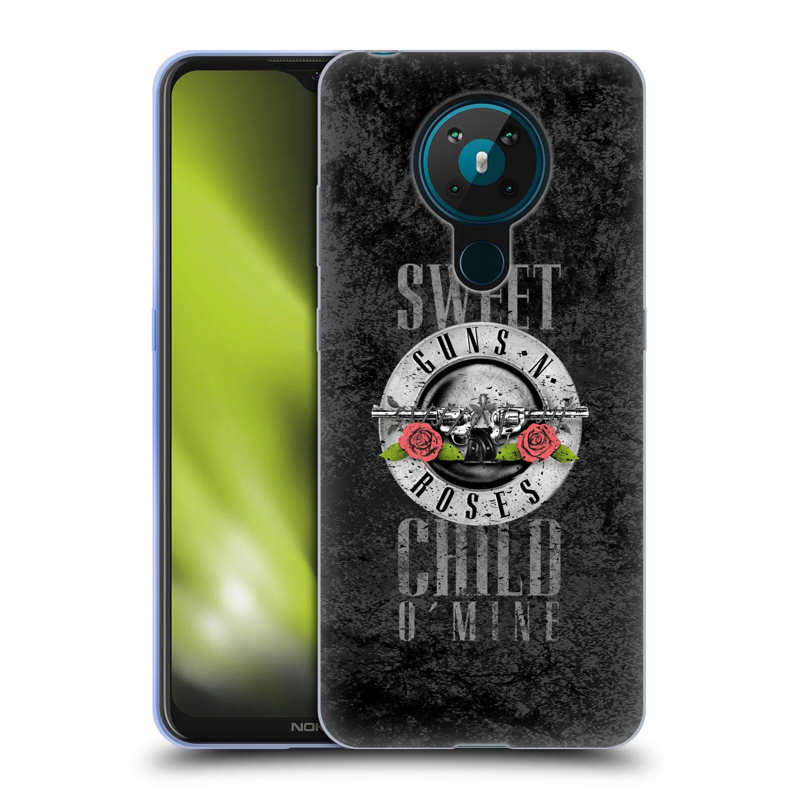 Silikonové pouzdro na mobil Nokia 5.3 - Head Case - Guns N' Roses - Sweet Child