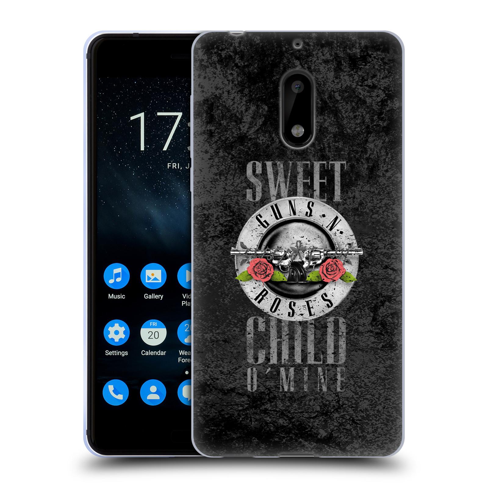 Silikonové pouzdro na mobil Nokia 6 - Head Case - Guns N' Roses - Sweet Child
