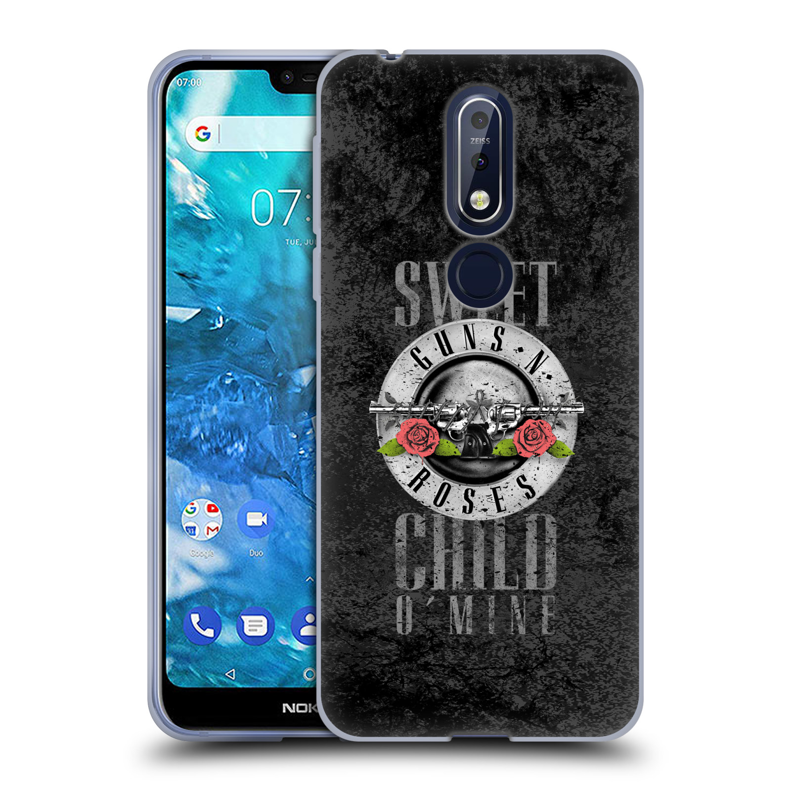Silikonové pouzdro na mobil Nokia 7.1 - Head Case - Guns N' Roses - Sweet Child